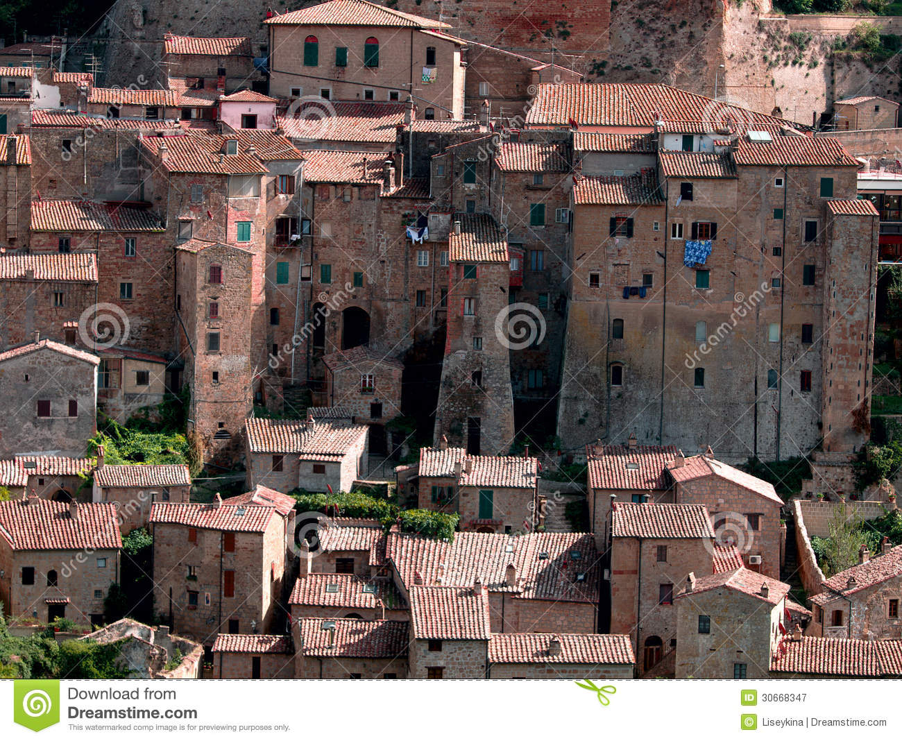 Sorano Italy  city photos gallery : Sorano Town In Italy. Royalty Free Stock Photography Image: 30668347