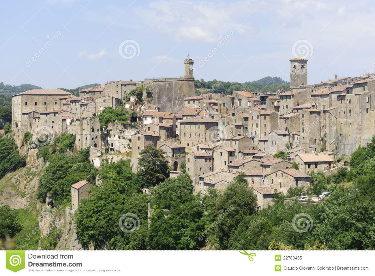 Sorano Italy  city photos gallery : Sorano Grosseto, Tuscany, Italy , panoramic view of the medieval town ...