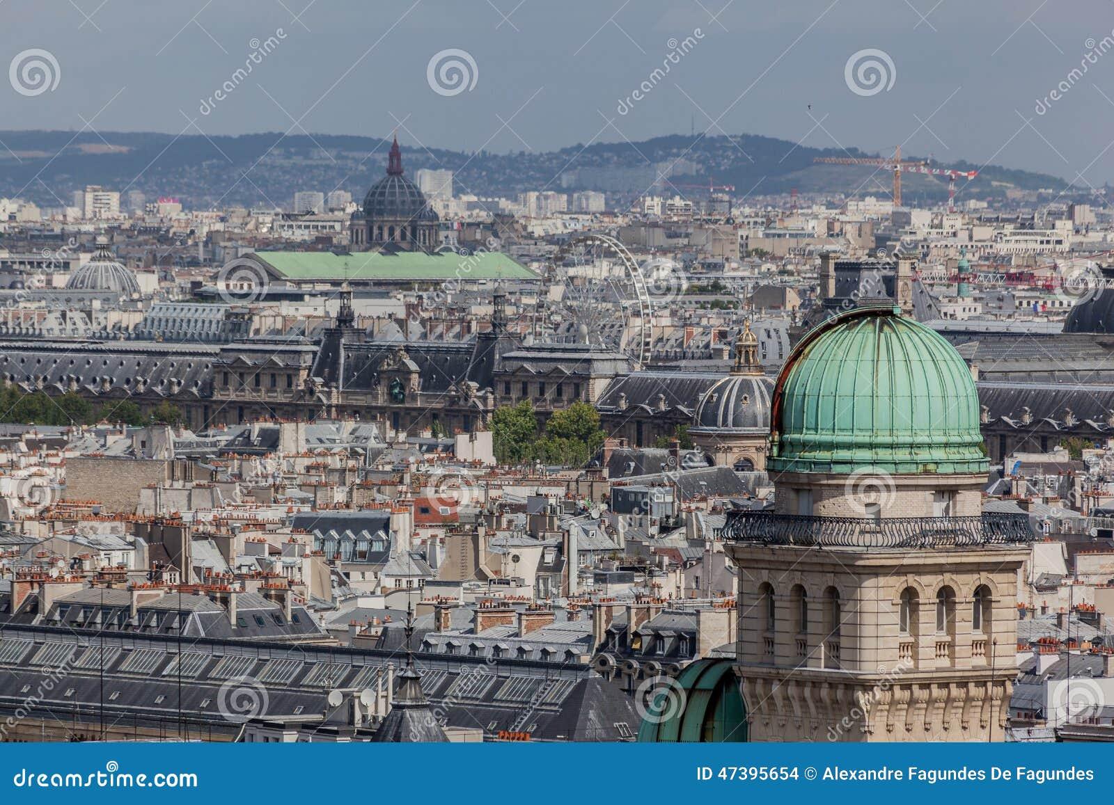 Sorbonne Copper Roof Tower Paris France Stock Photo