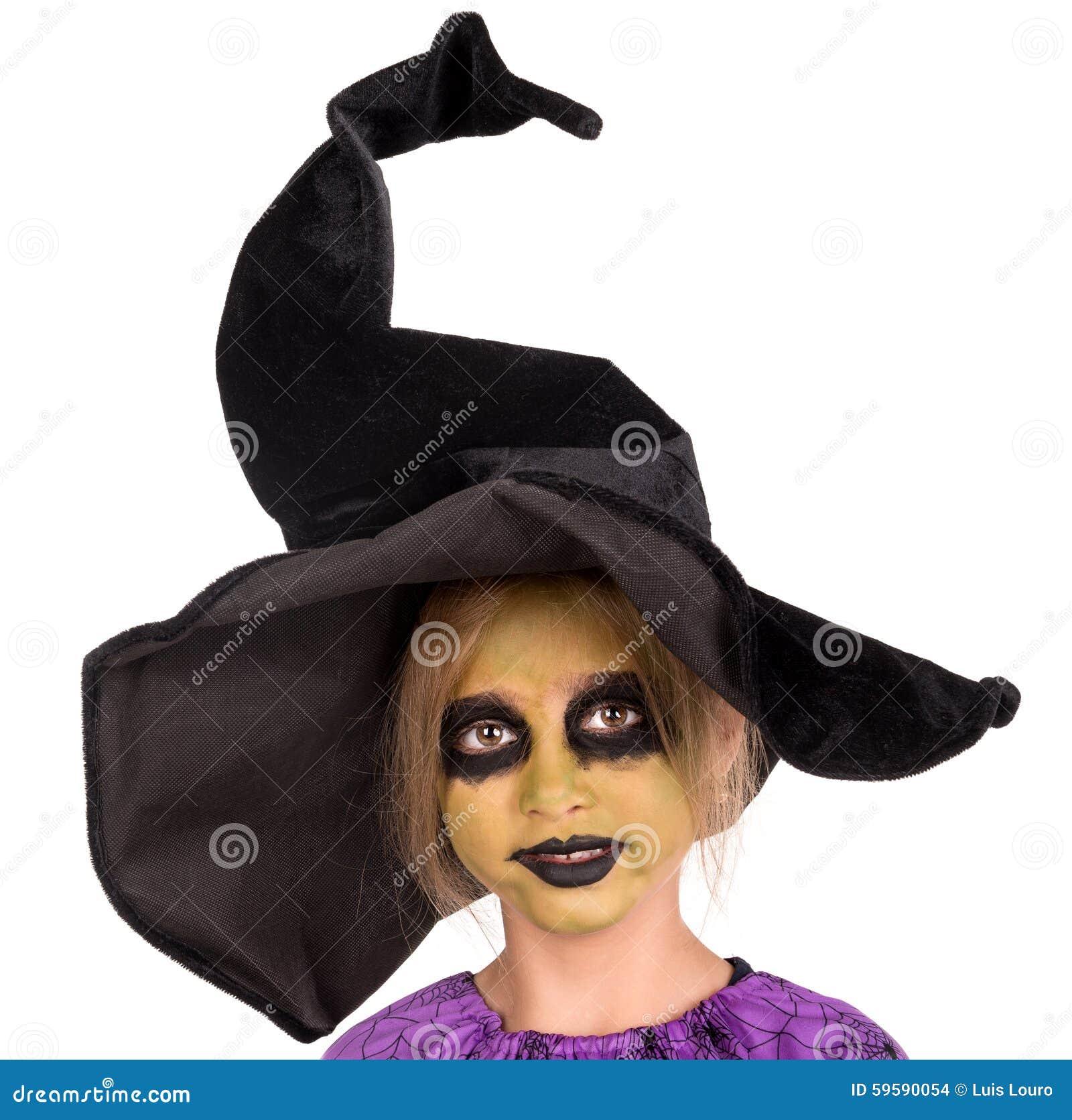sorci re de jeune fille dans halloween photo stock image. Black Bedroom Furniture Sets. Home Design Ideas