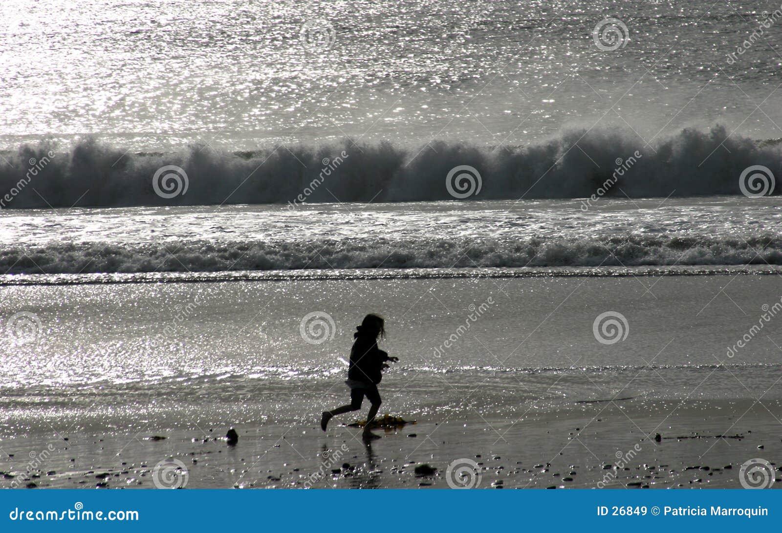 Sorgloses Ozean-Herumtollen