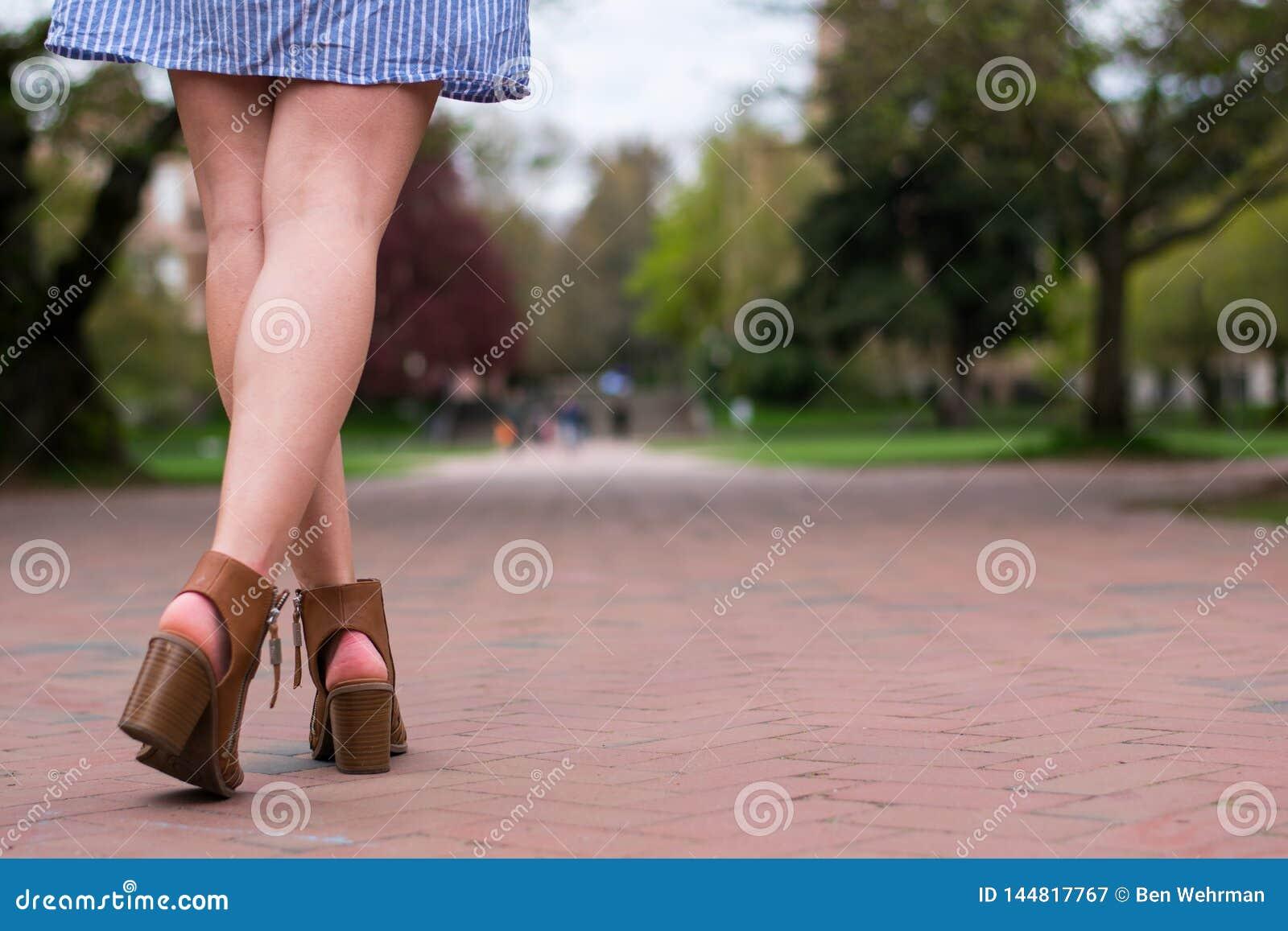Sorority dziewczyna na Ceglanym droga przemian