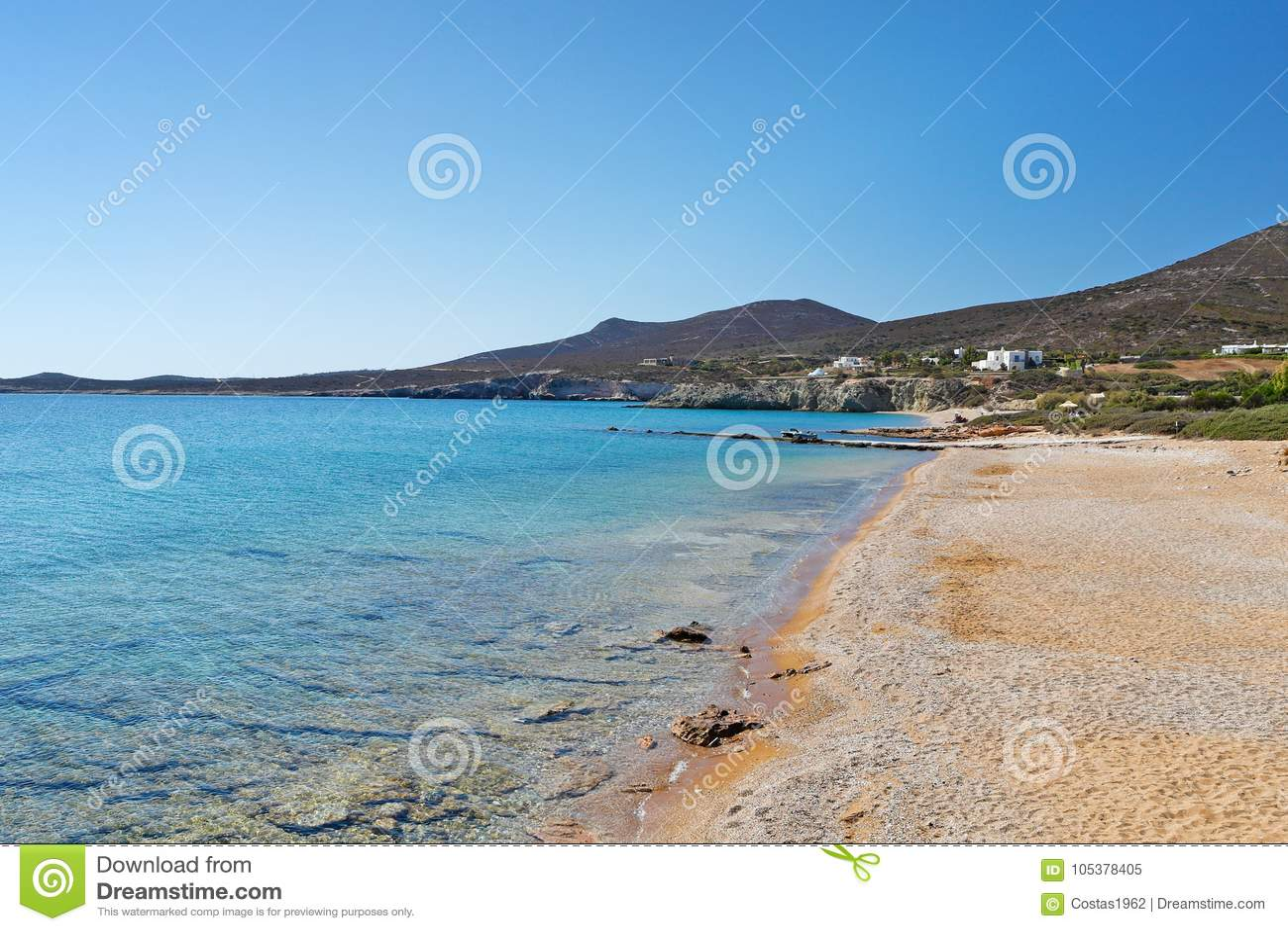 Soros beach of Antiparos, Greece