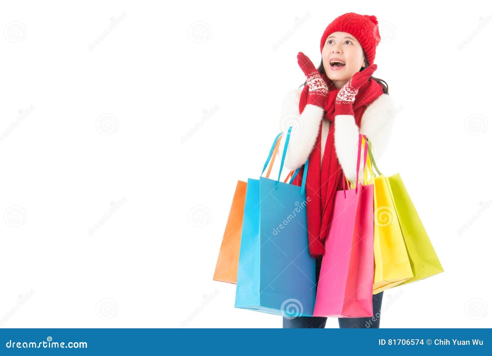 Sorprendido para la venta del invierno compras coloridas de la Navidad