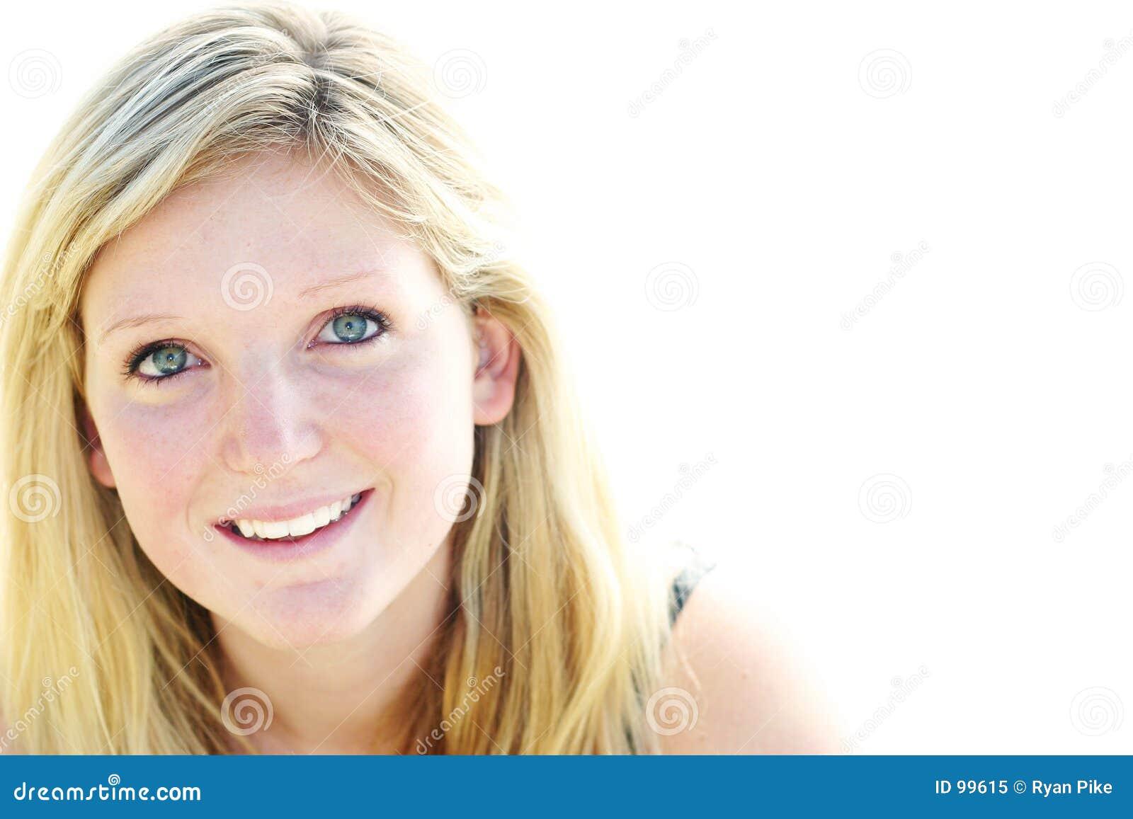 Sorridere della giovane donna
