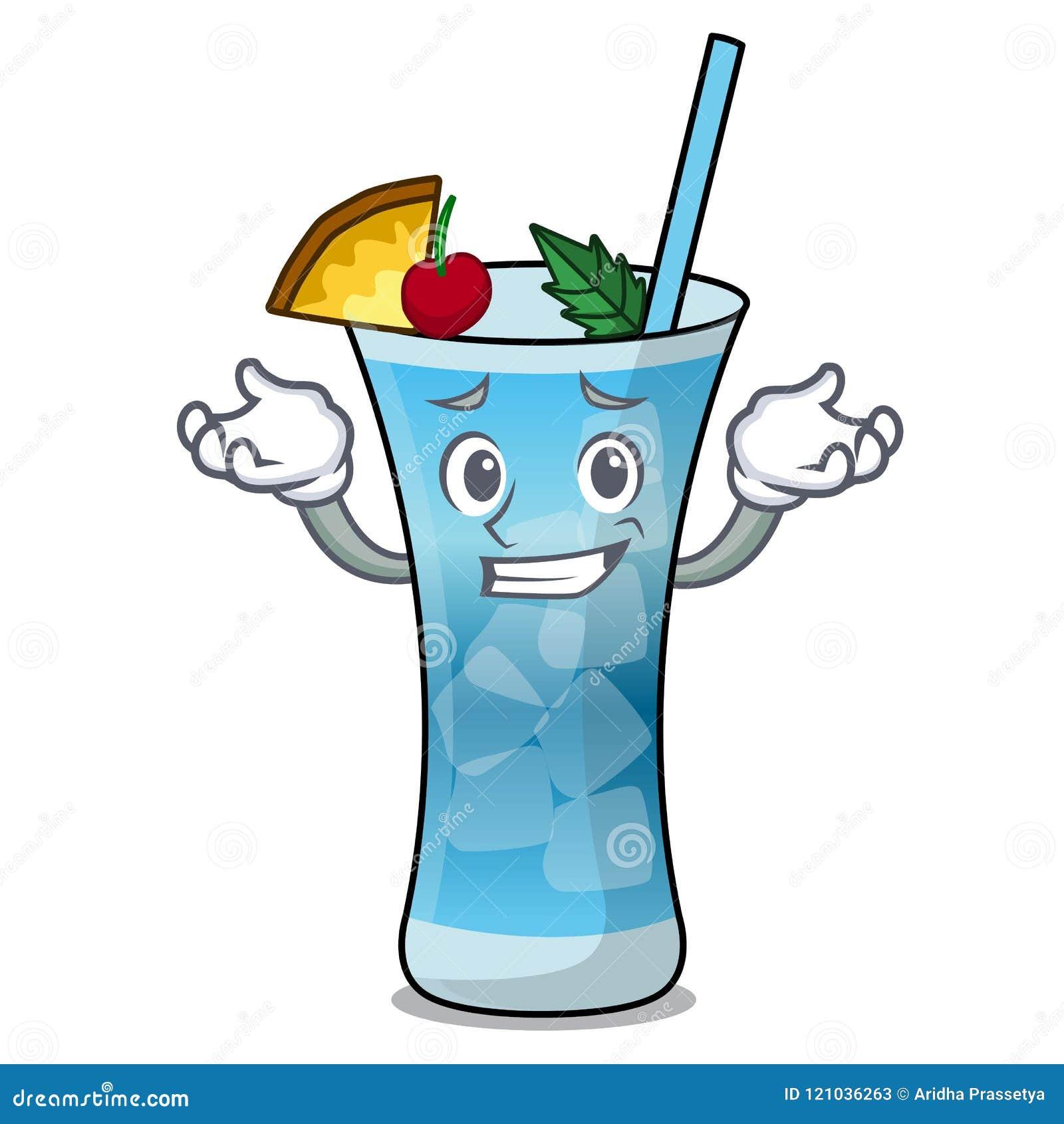 Sorrindo Desenhos Animados Azuis Do Carater De Havai Ilustracao Do Vetor Ilustracao De Feixe Vidro 121036263