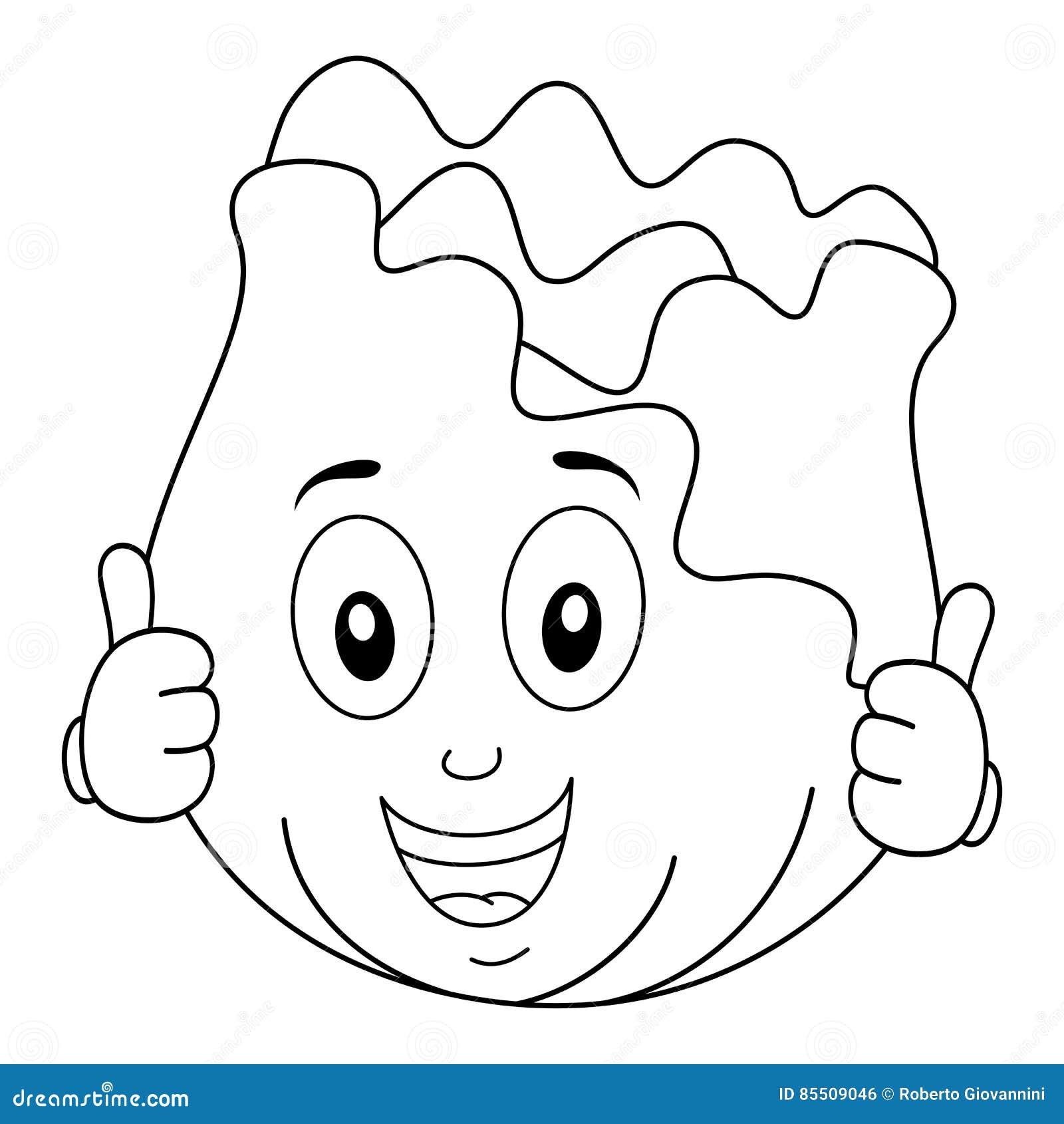 Sorriso Bonito Colorindo Do Caráter Da Couve Ilustração do Vetor -  Ilustração de sorriso, couve: 85509046