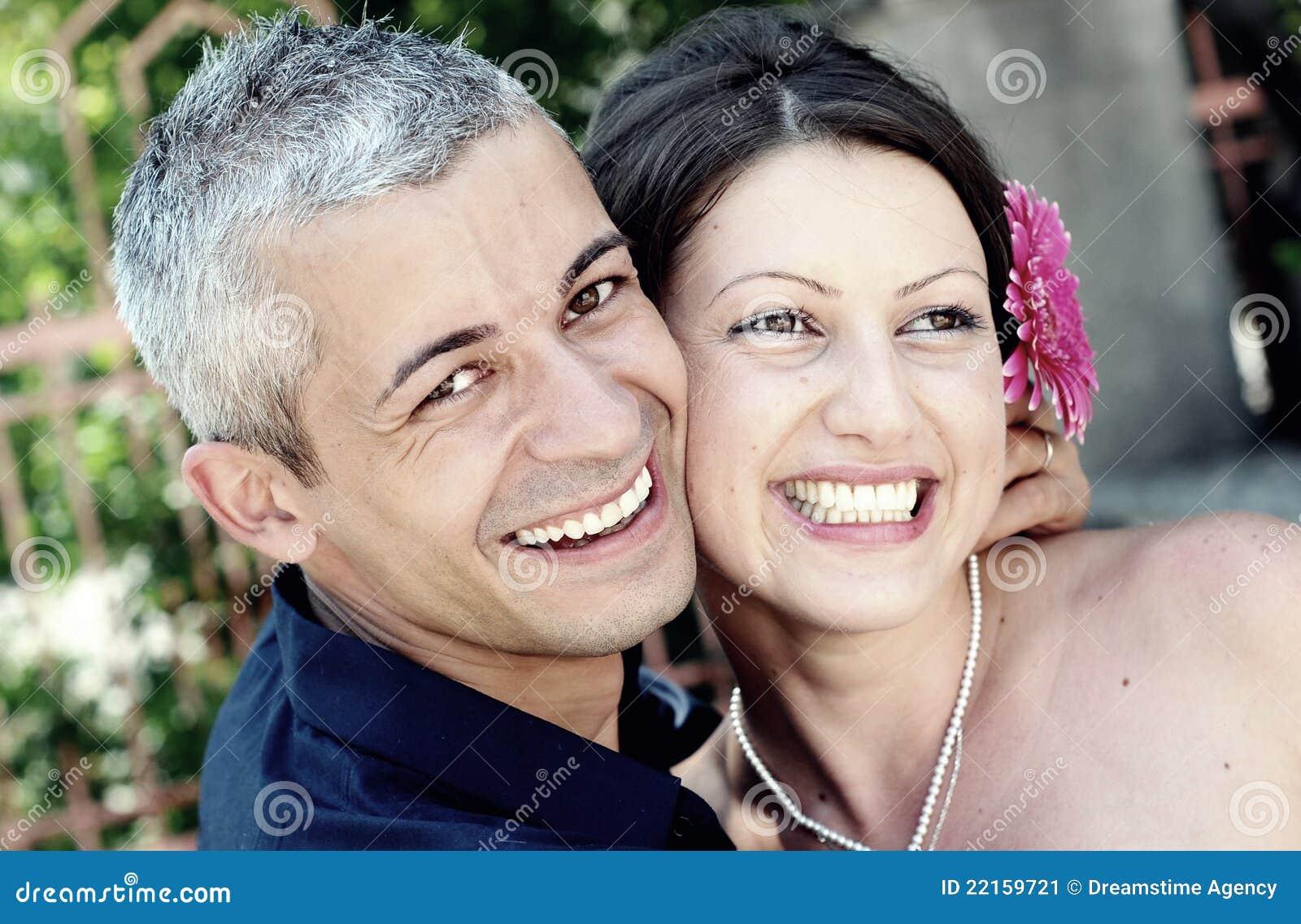 Sorriso bonito dos pares