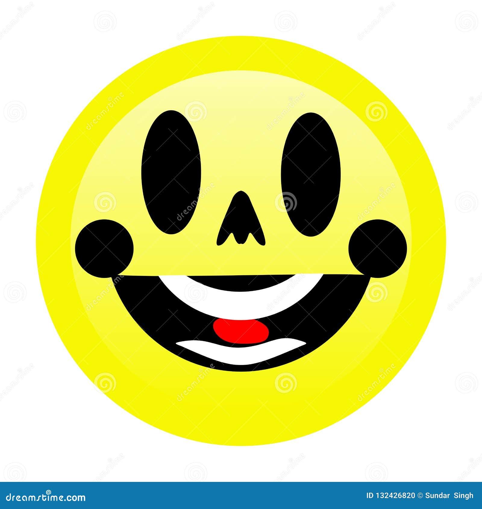 Sorriso brilhante Emoji com fundo branco