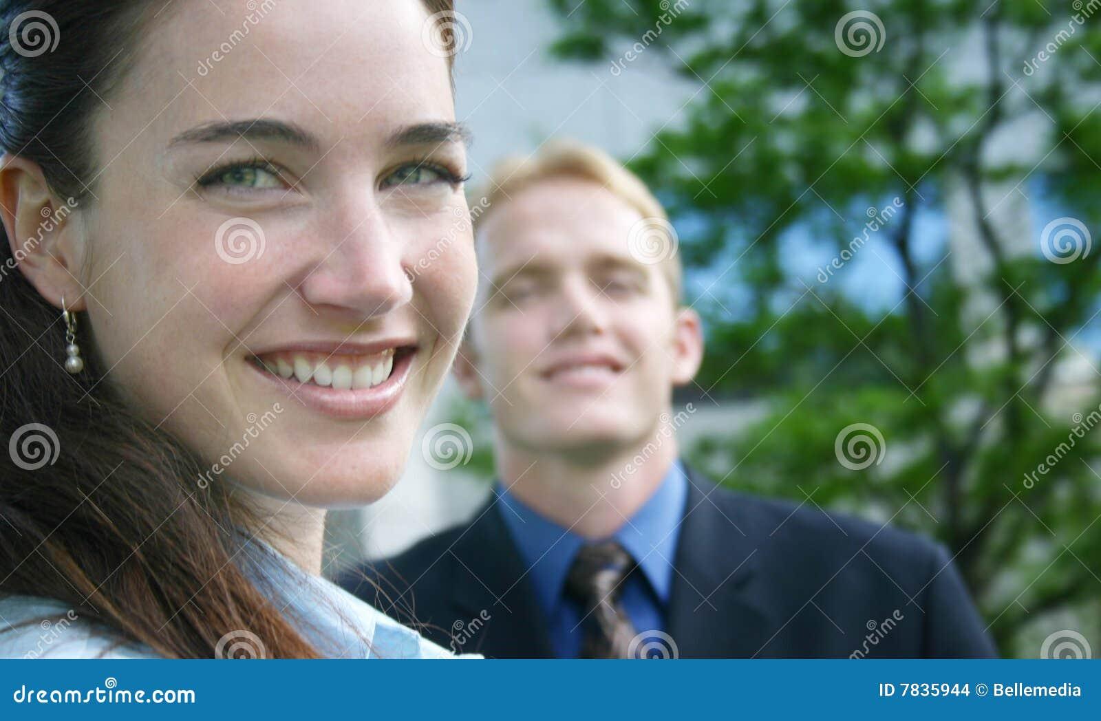 Sorriso da mulher de negócio