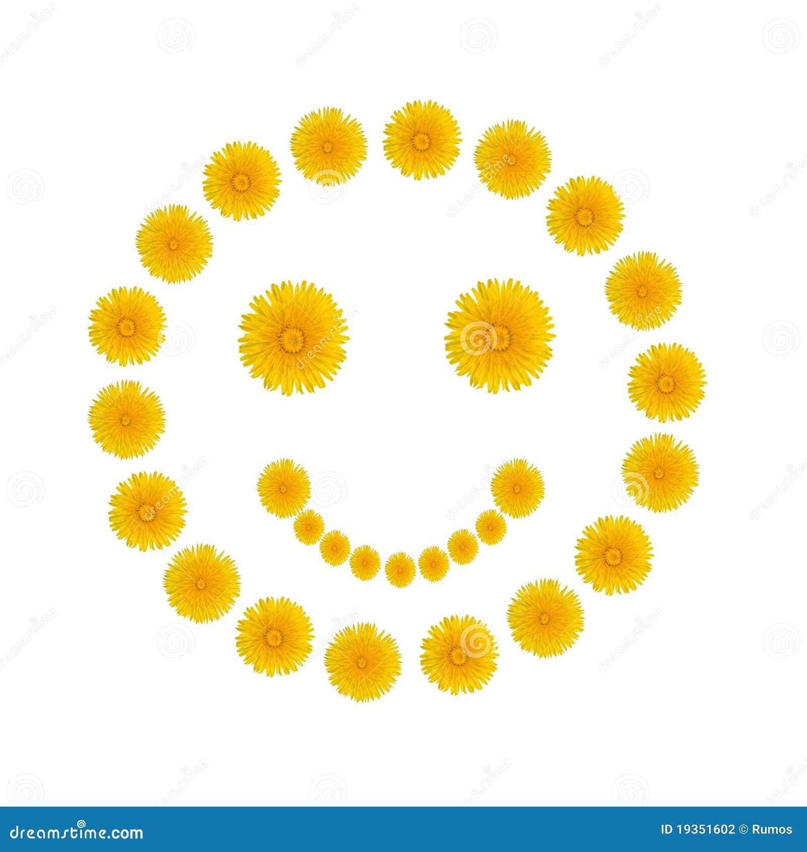 Sorriso dos dentes-de-leão amarelos