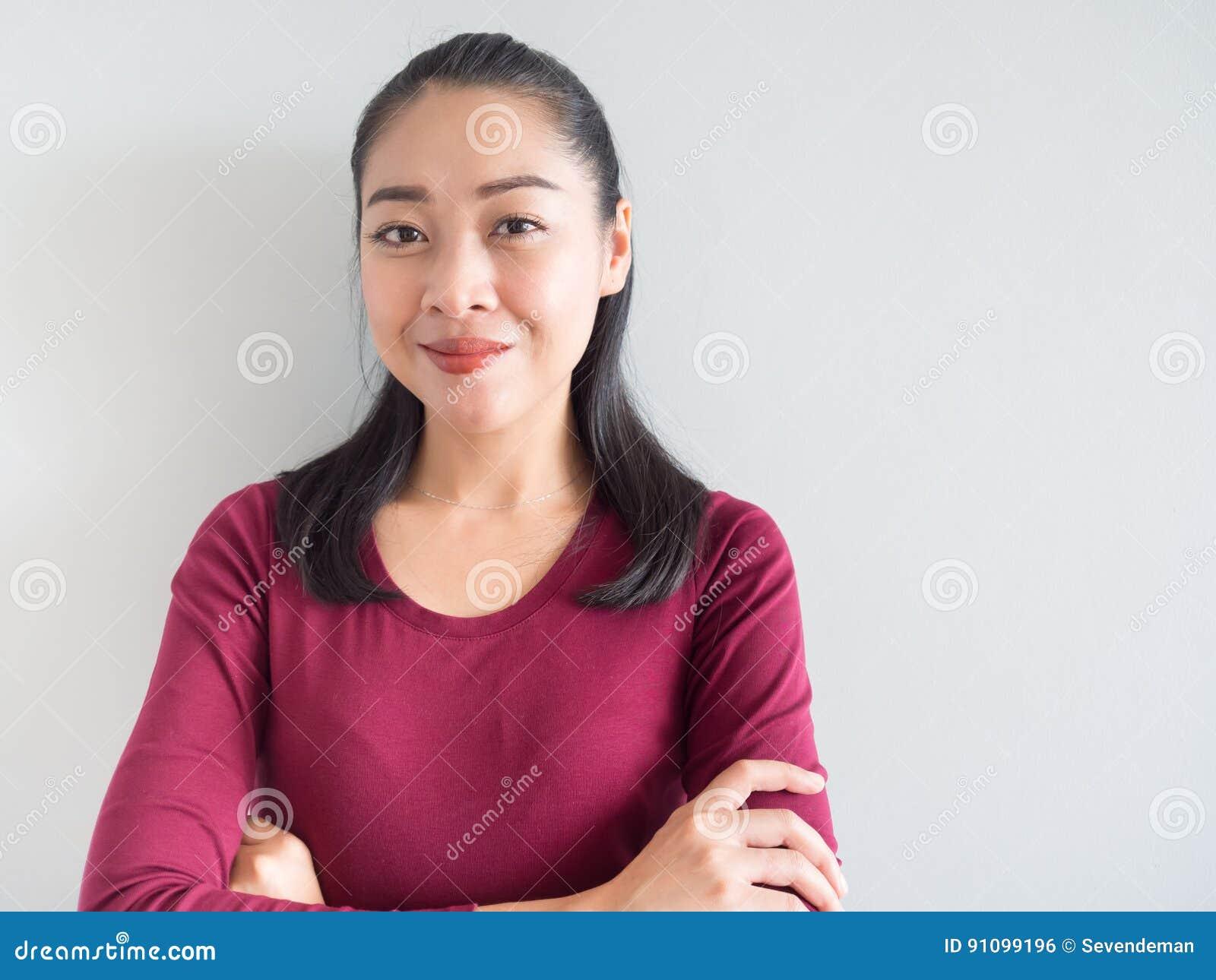 Sorriso e mulher da confiança