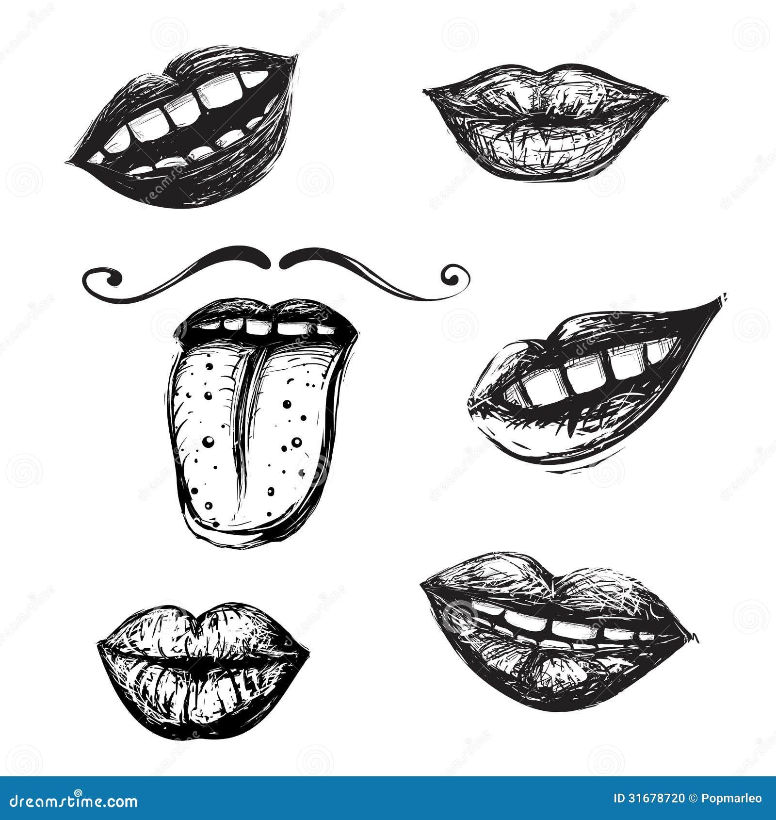 Ben noto Sorriso E Raccolta Del Disegno Della Bocca Illustrazione  AQ81