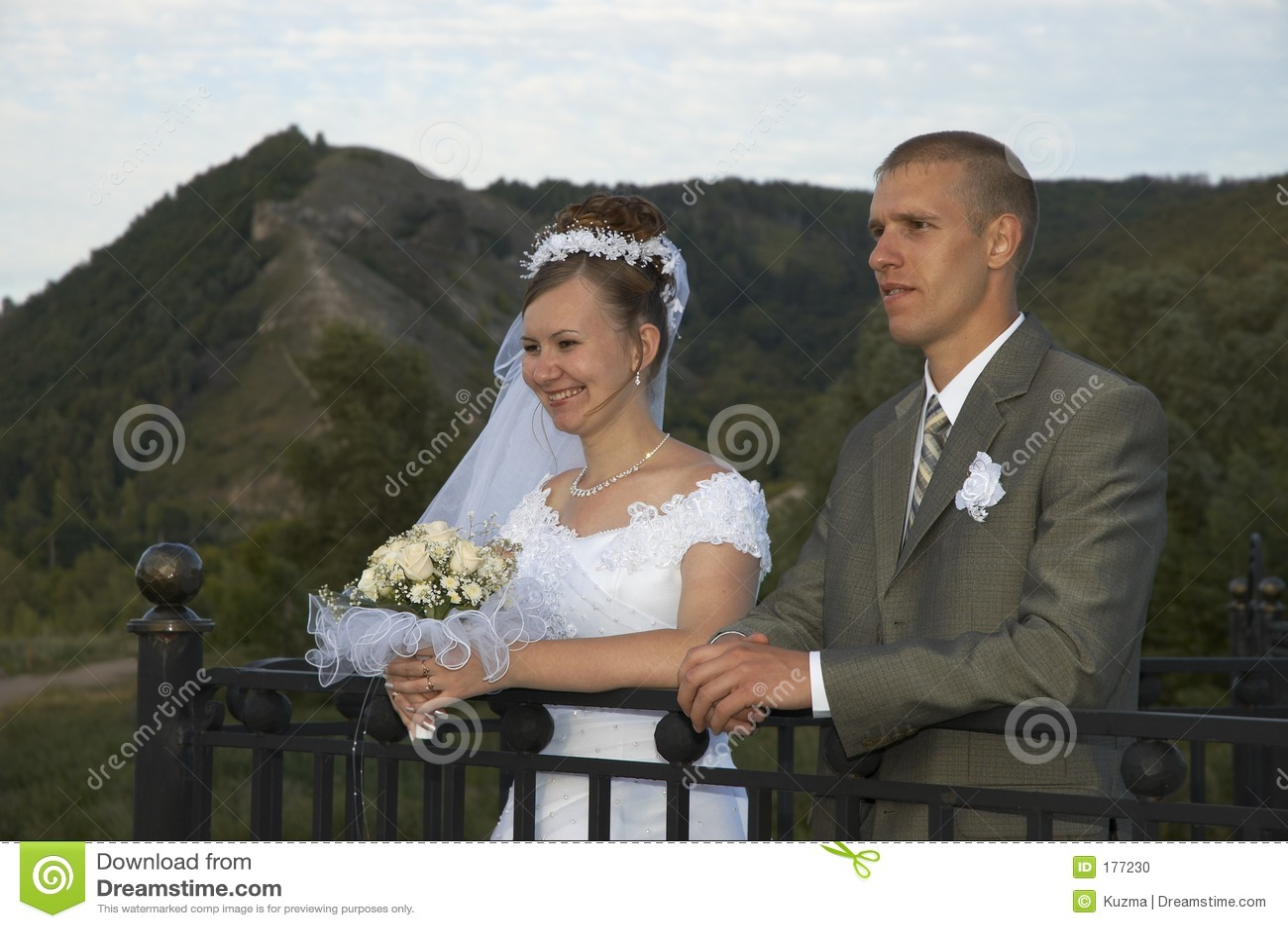 Sorriso felice di cerimonia nuziale