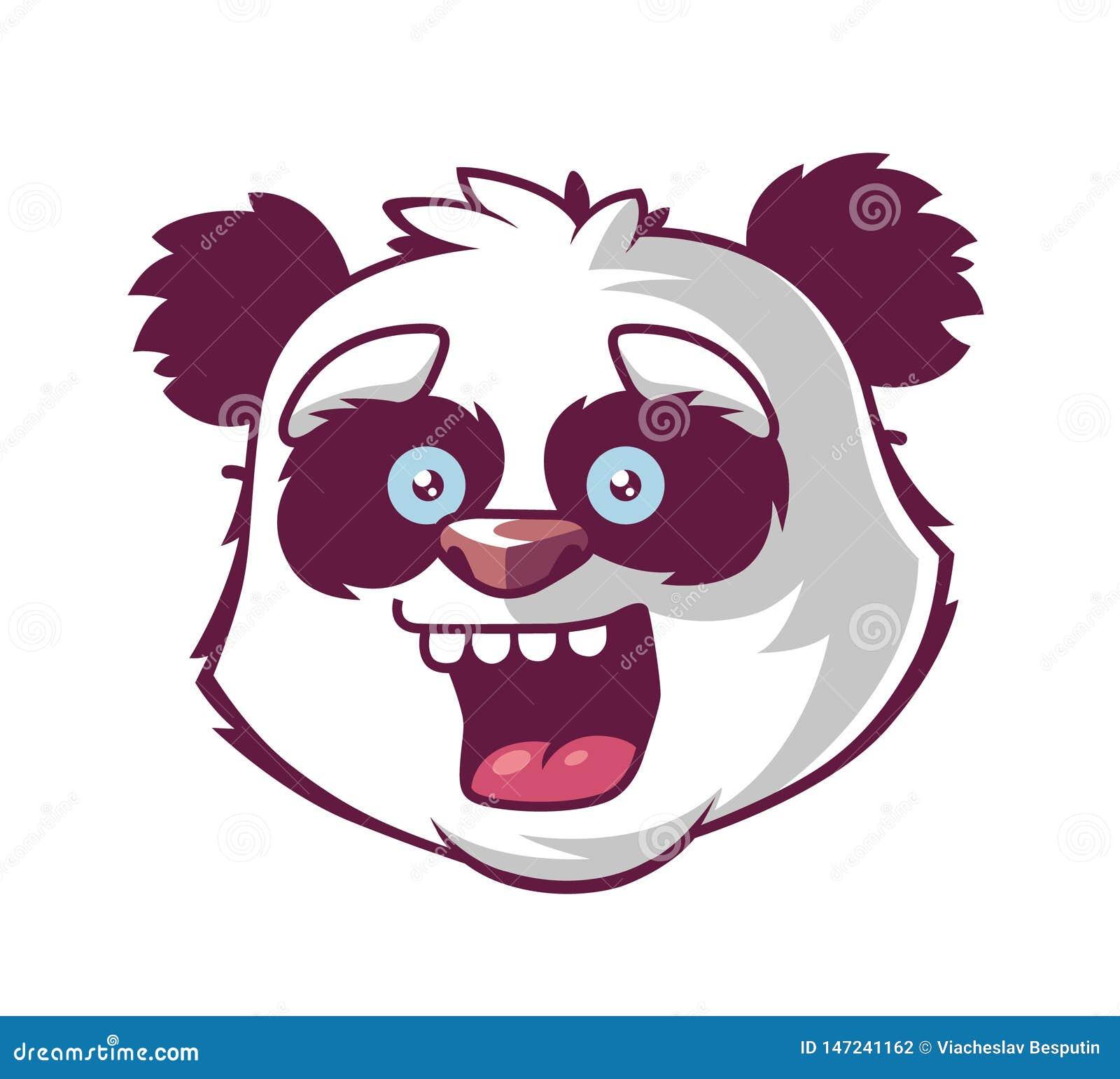 Sorrisos da panda a cabeça do caráter