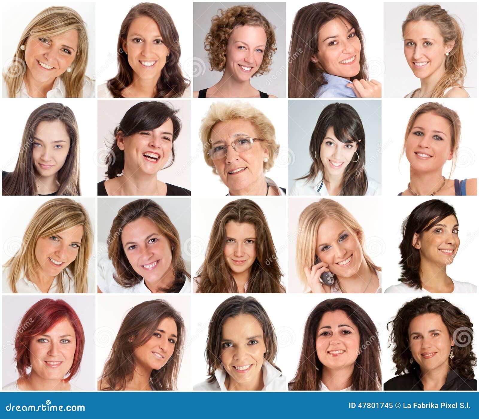Sorrisos das mulheres