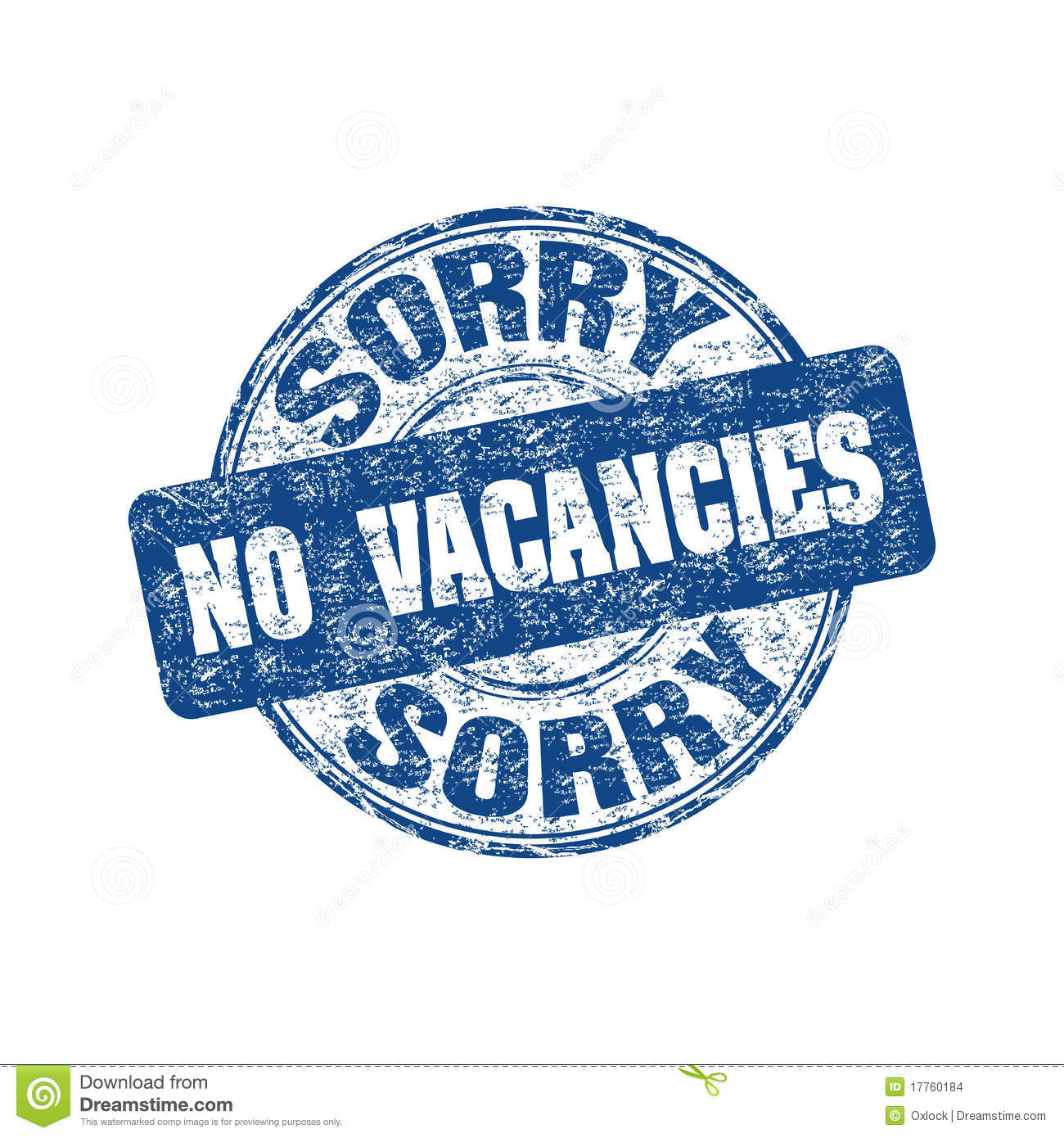 Sorry no vacancies stamp stock images image 17760184