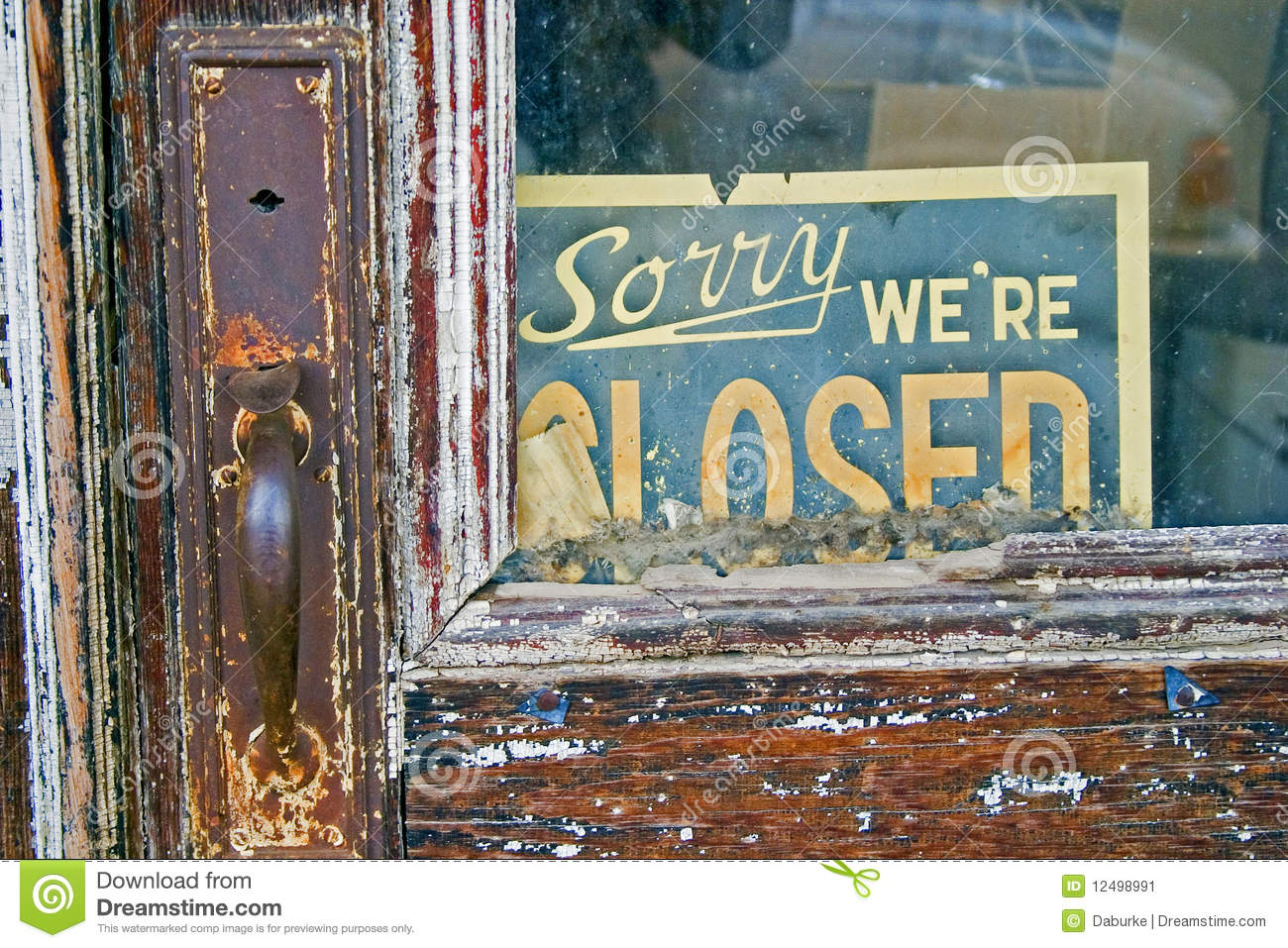 Sorry We re Closed sign