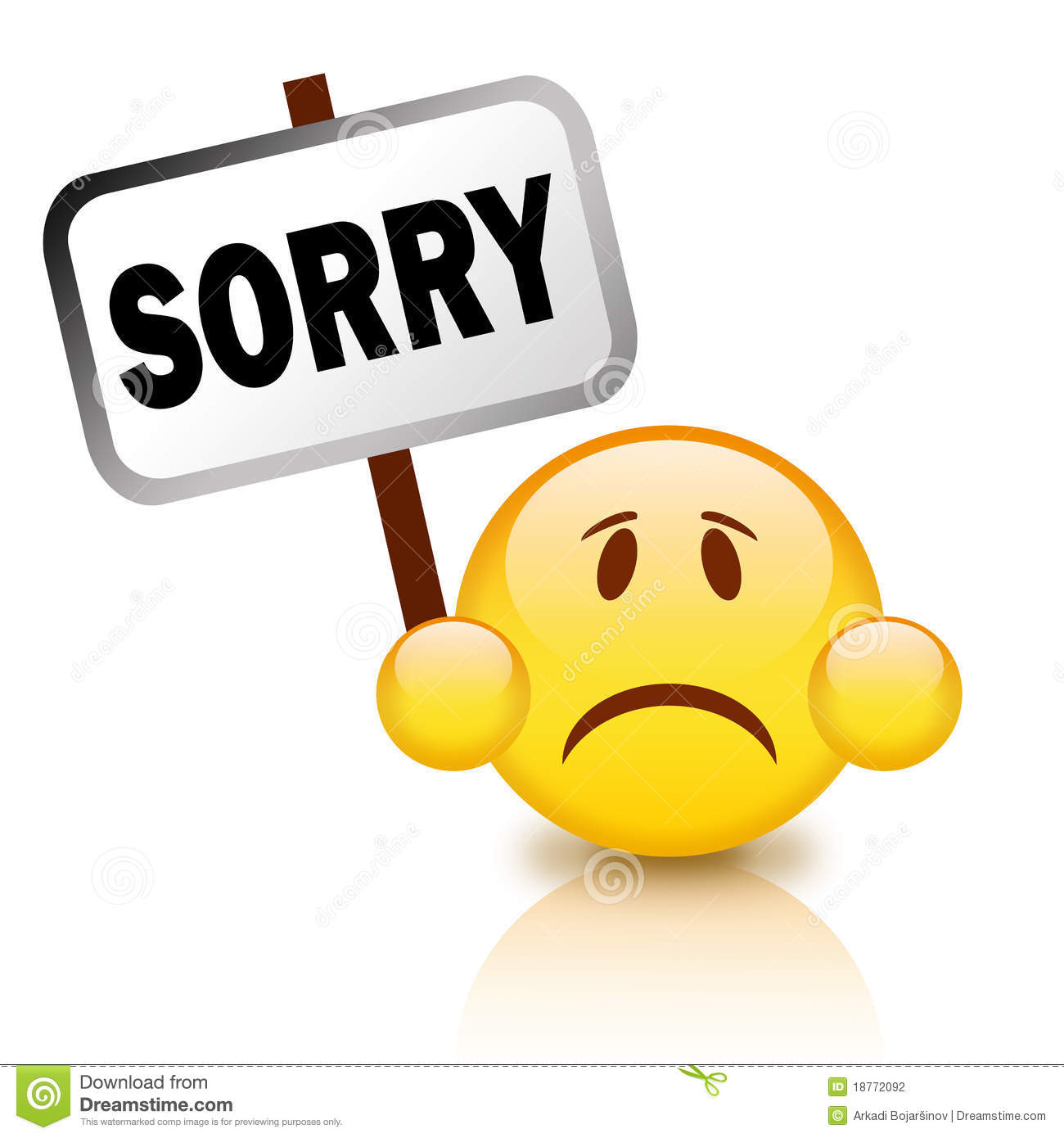 sorry sign stock illustration. illustration of mistake - 18772092