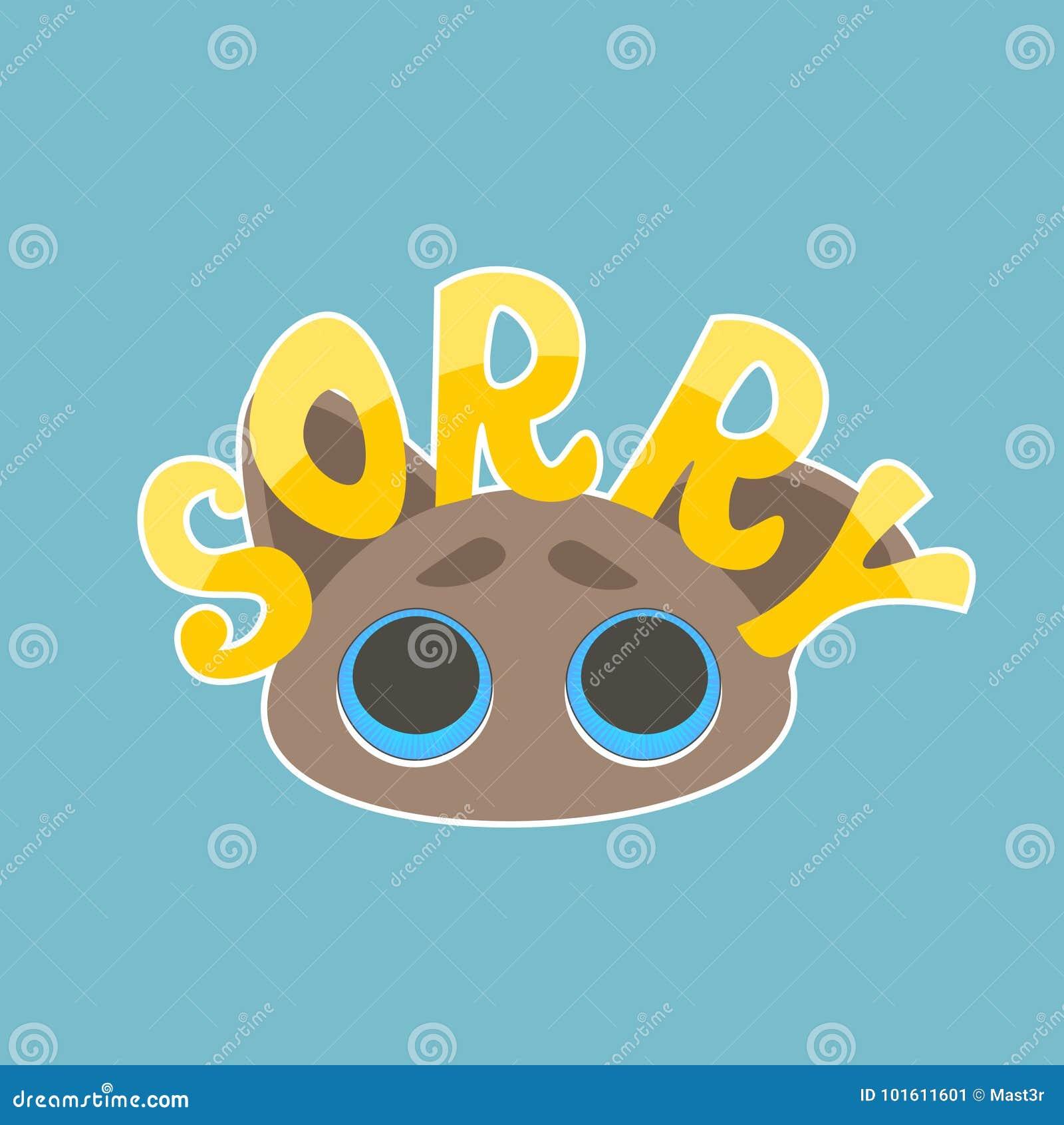 sorry sticker social media network message badges design stock