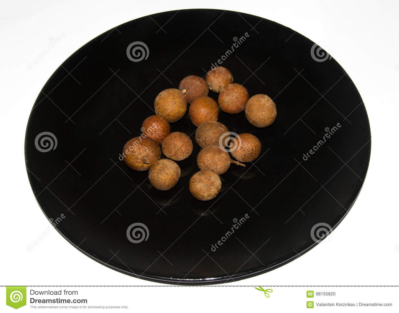 Sort av fruktdimocarpuslonganen