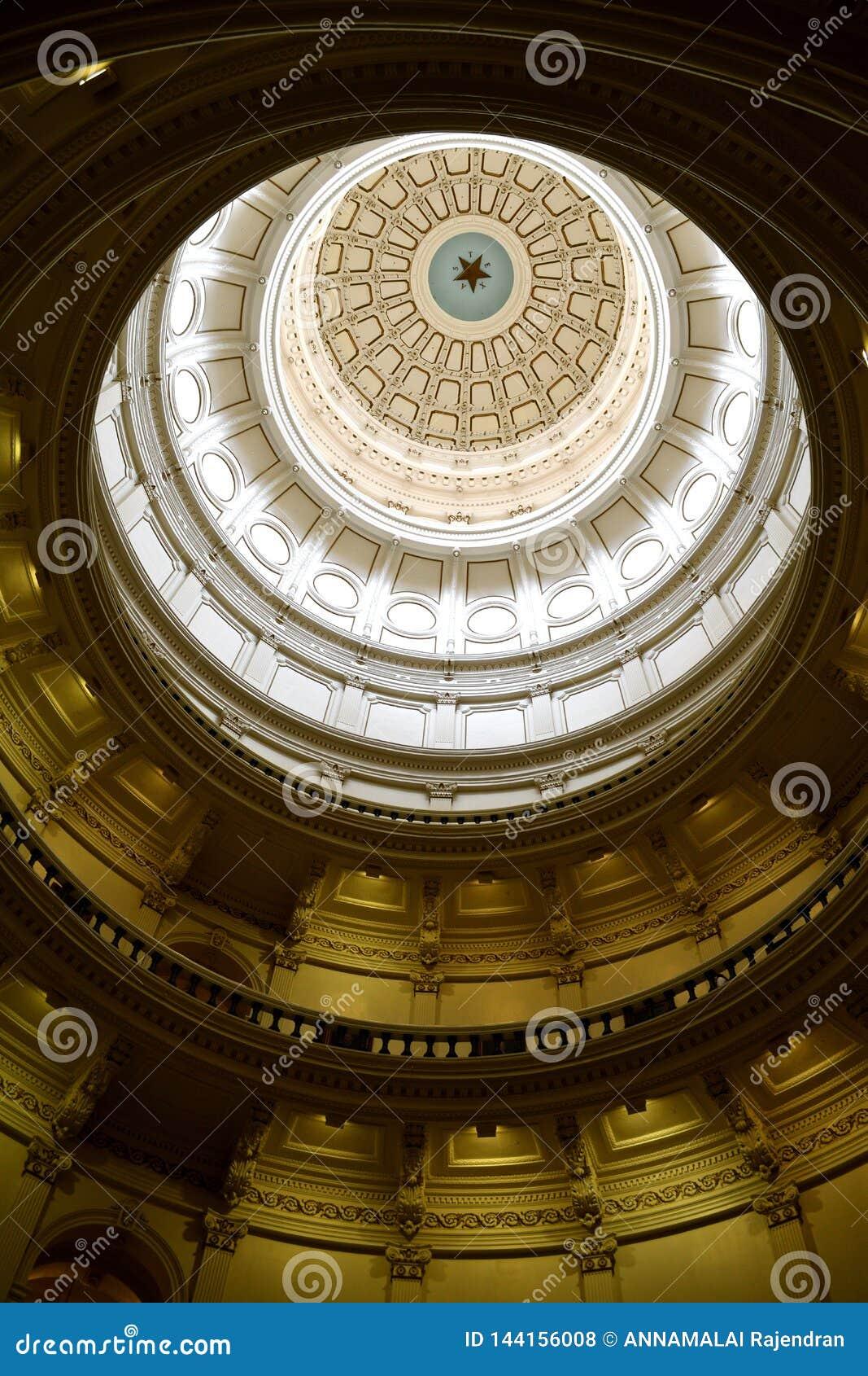 Sort malheureux central d Austin State Capitol