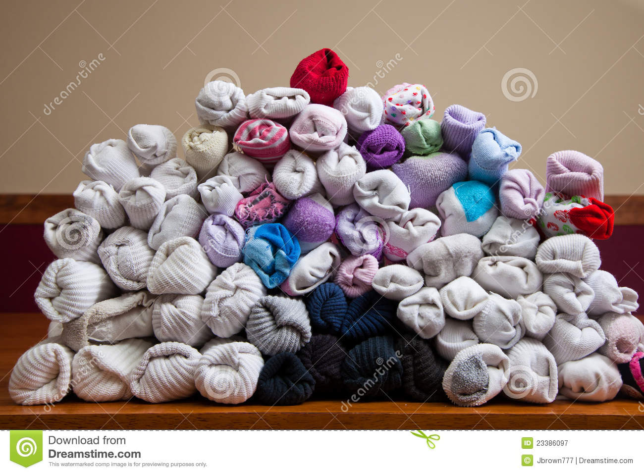 Sorted Socks Royalty Free Stock Photography Image 23386097