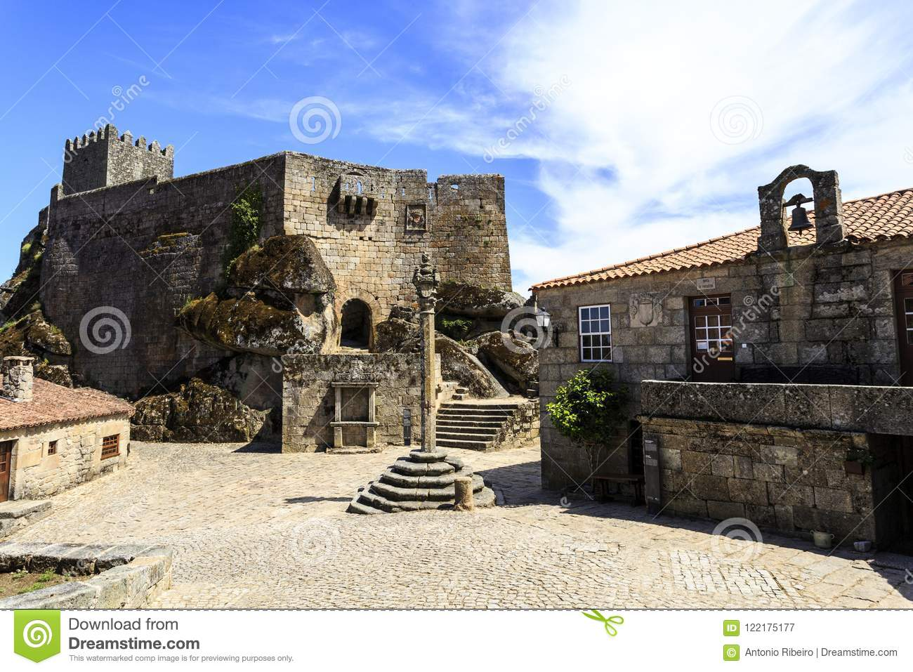 Sortelha Ae Medieval Pillory Town Hall And Castle