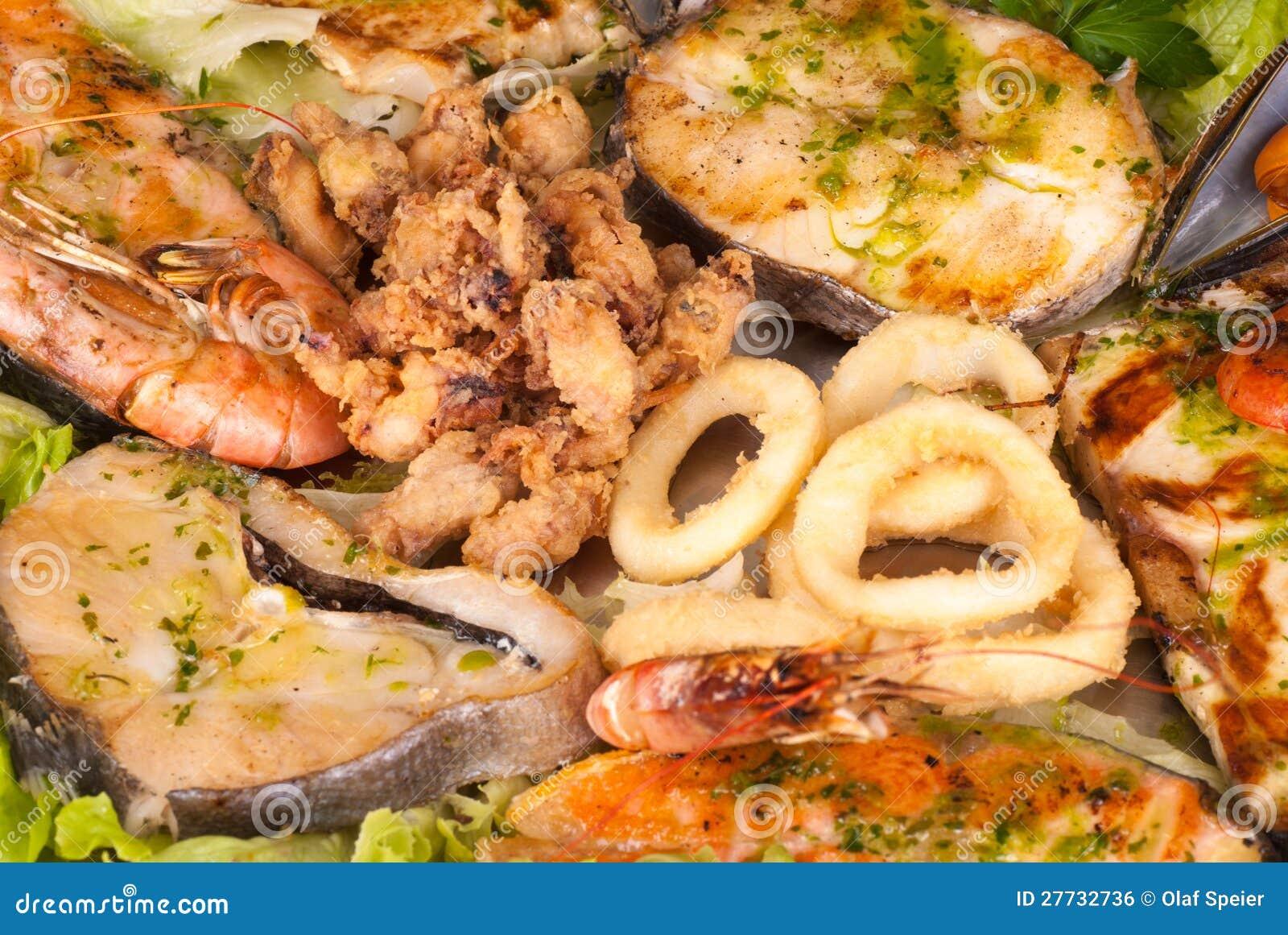 Sortierte Meeresfrüchte