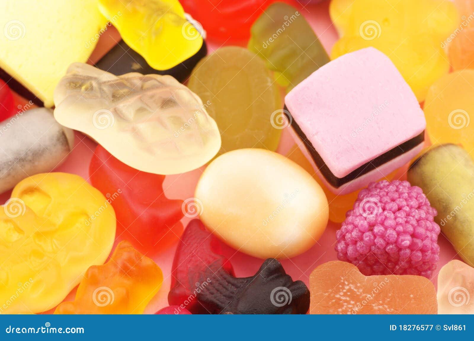 Sortierte Süßigkeitnahaufnahme