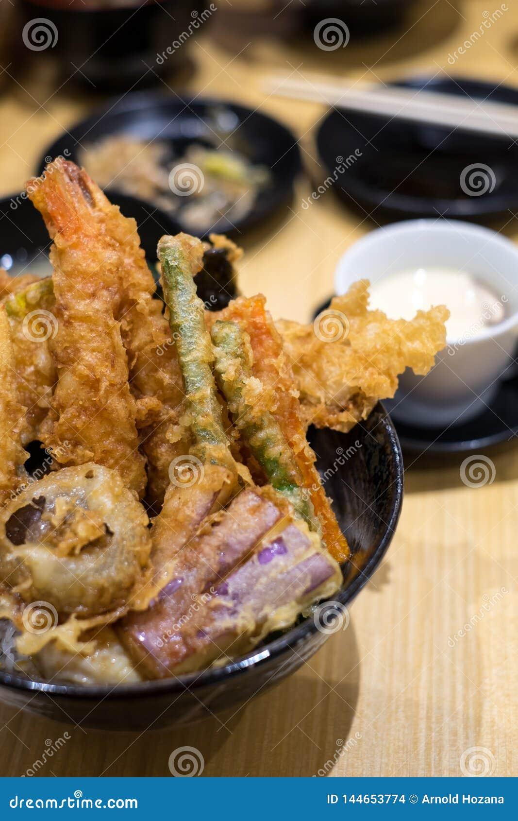 Sortierter Tempura auf einem japanischen Restaurant