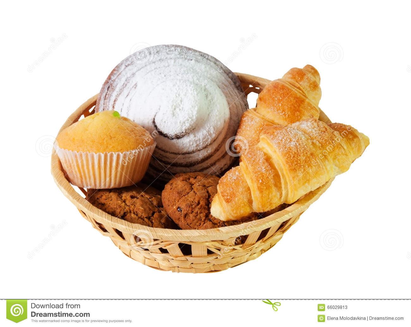 Sortiment av bakelser och kakor