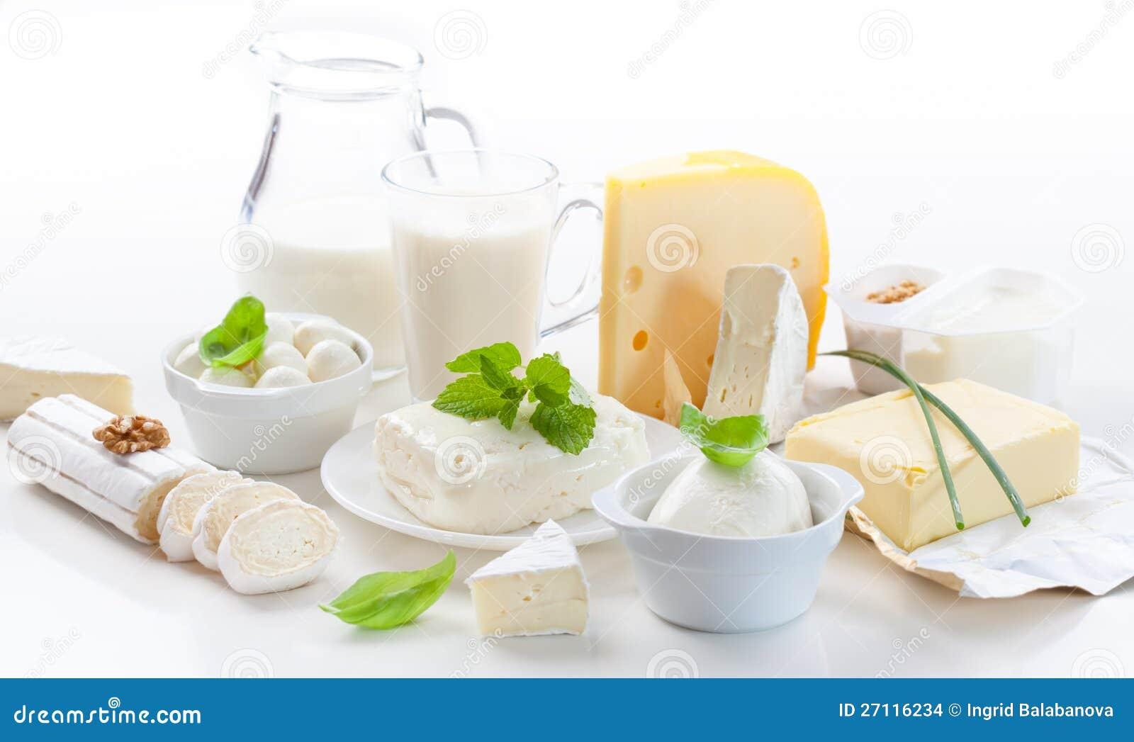 Sortiment av mejeriprodukter