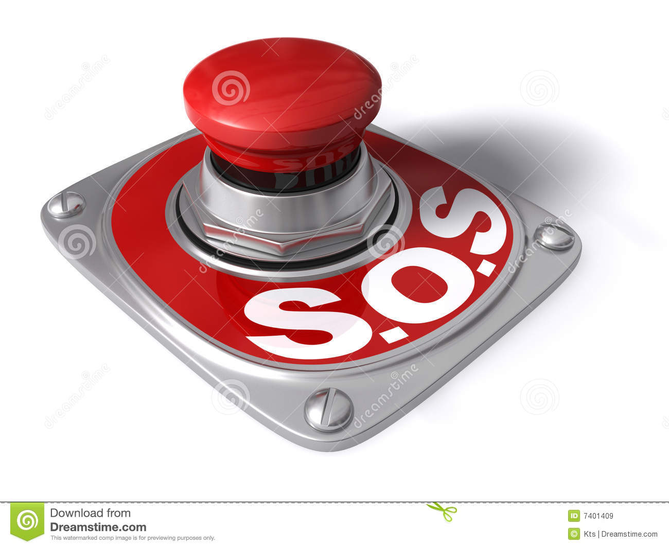 SOS Royalty Free Stock Images - Image: 7401409