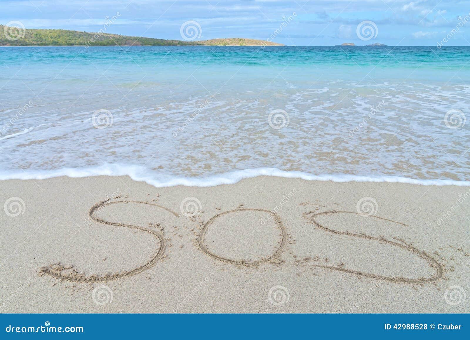 SOS cierpienia znak