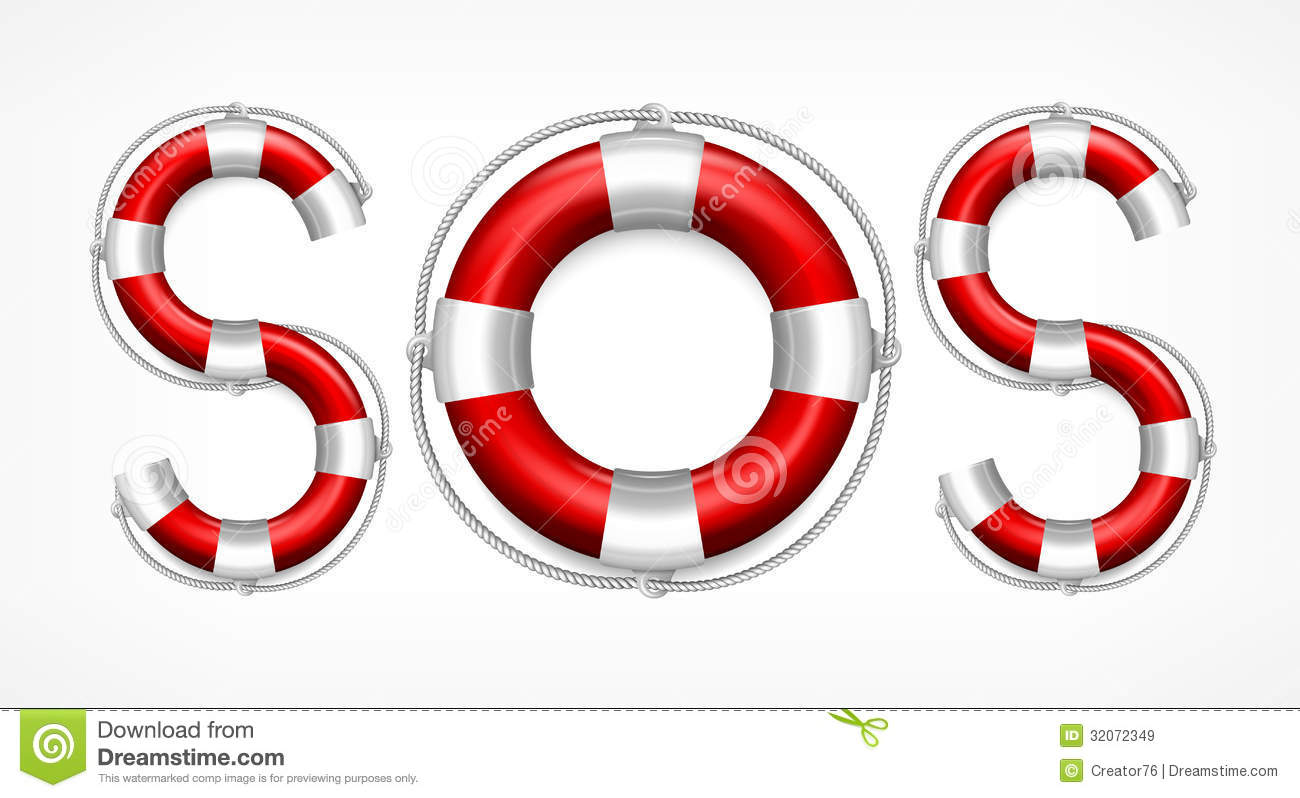 sos symbol on white royalty free stock images