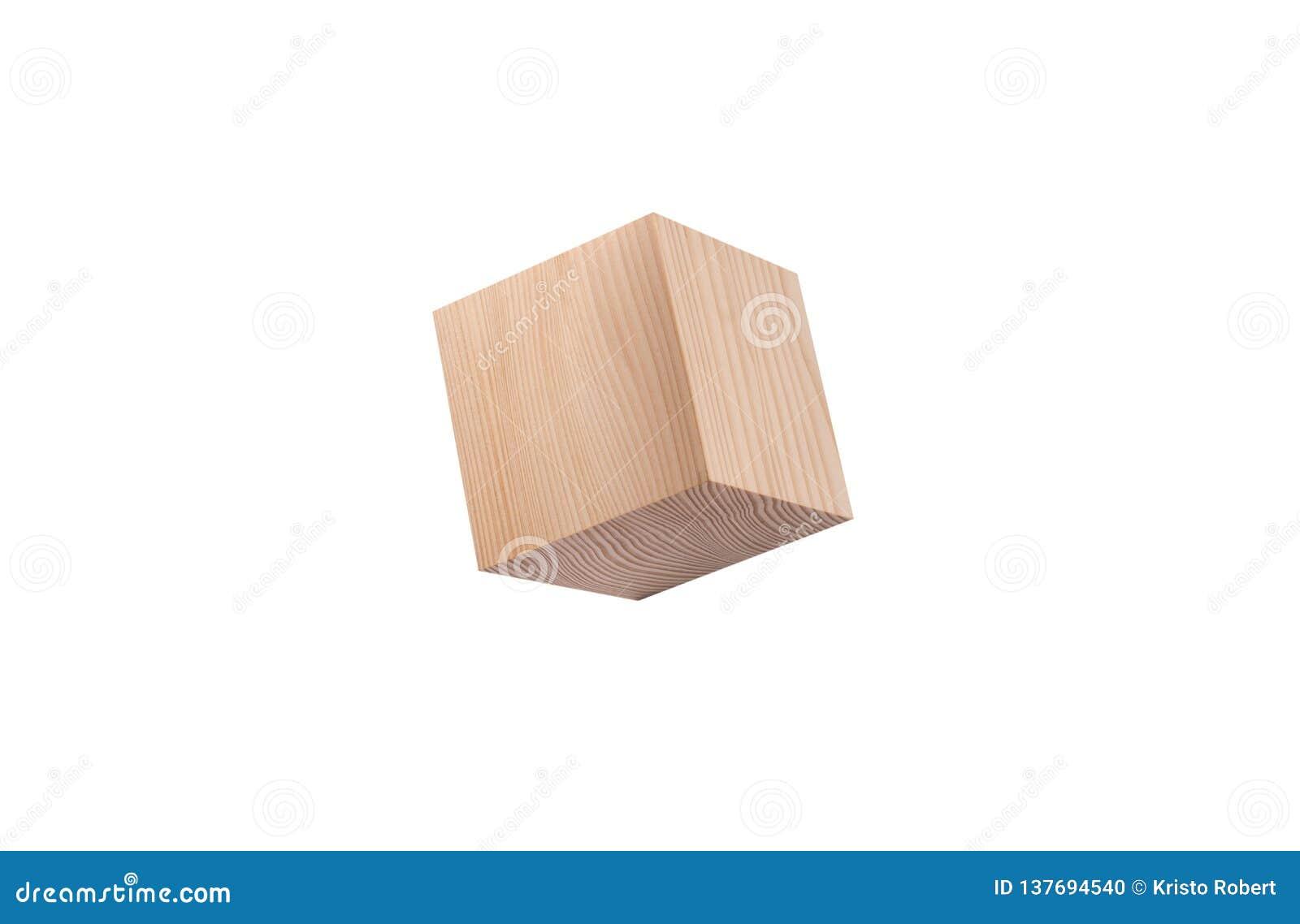 Sosnowy drewniany sześcian