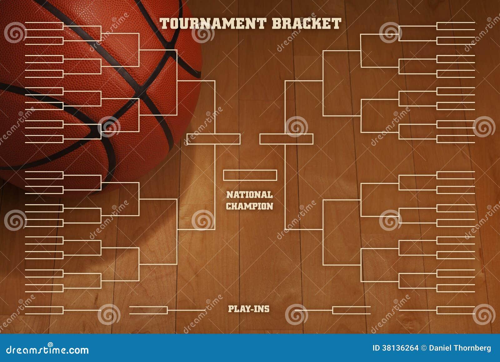 Sostegno di torneo di pallacanestro con illuminazione del punto sul