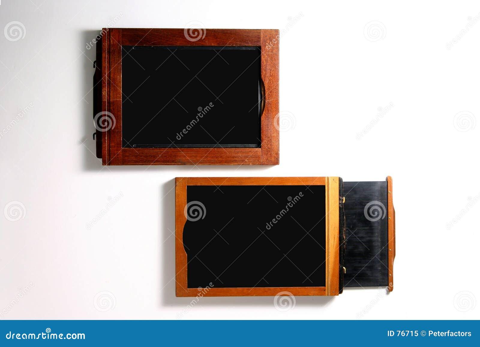 Sostenedores De La Película 4x5 Imagen de archivo - Imagen de wooden ...