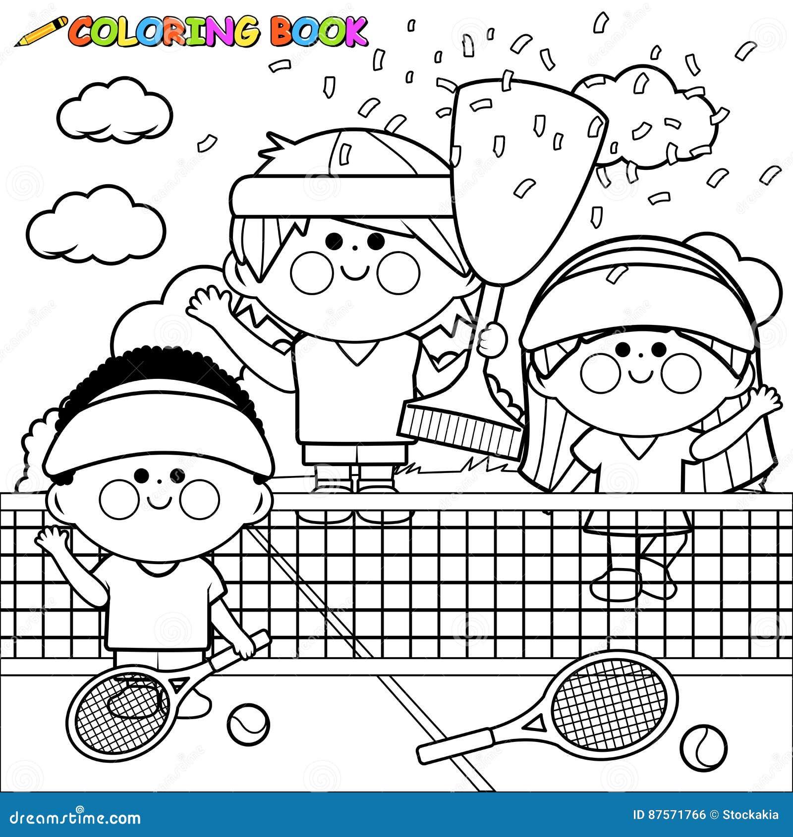 Sostenga i tennis dei bambini alla pagina del libro da - Bambino samuel pagina da colorare ...