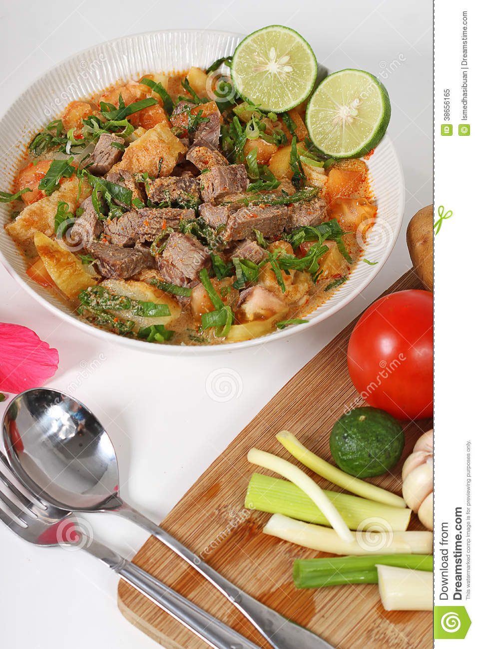 Soto Betawi Stock Image Image Of Goulash Garnishing 38656165