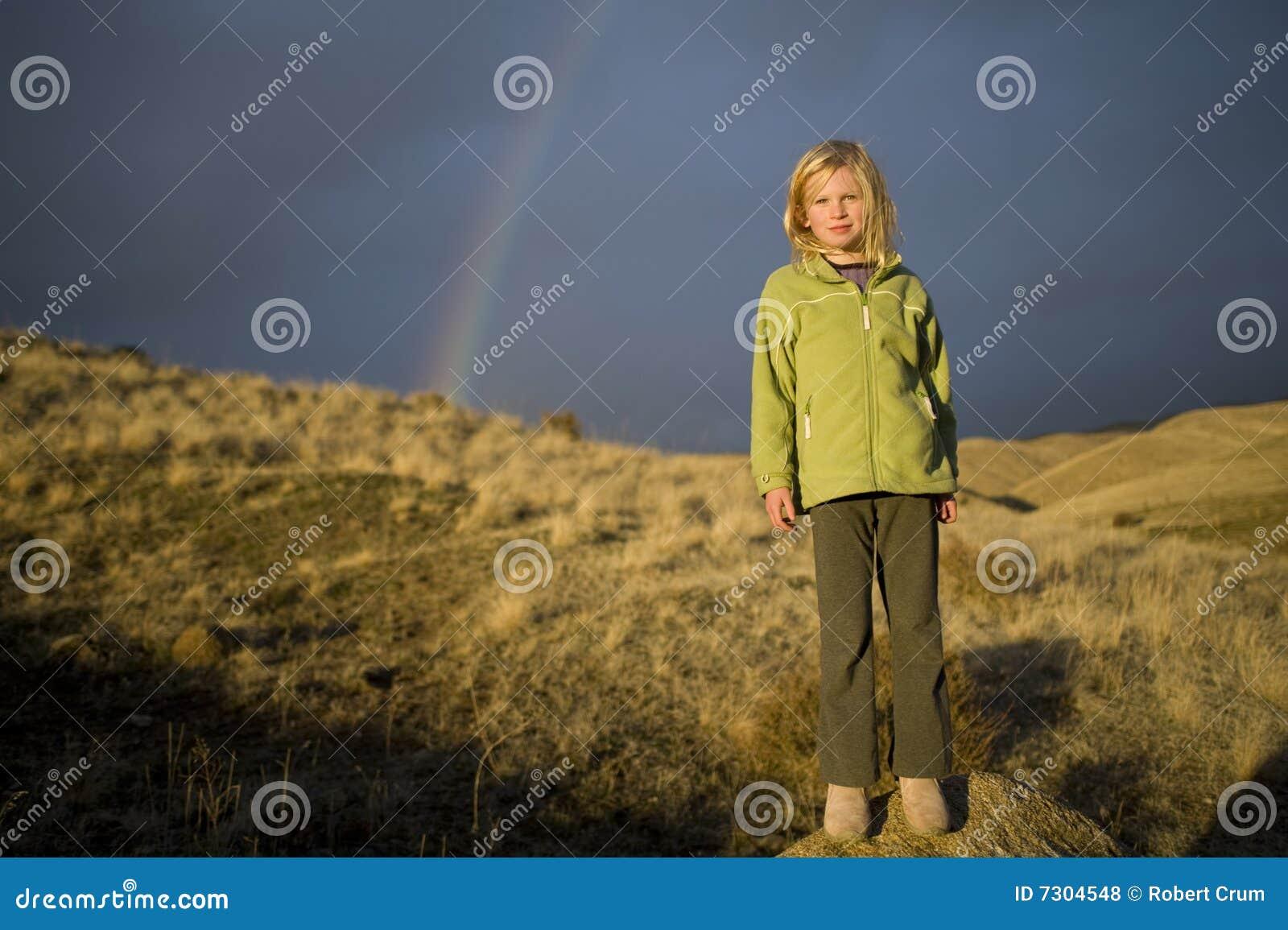 Sotto il Rainbow della ragazza