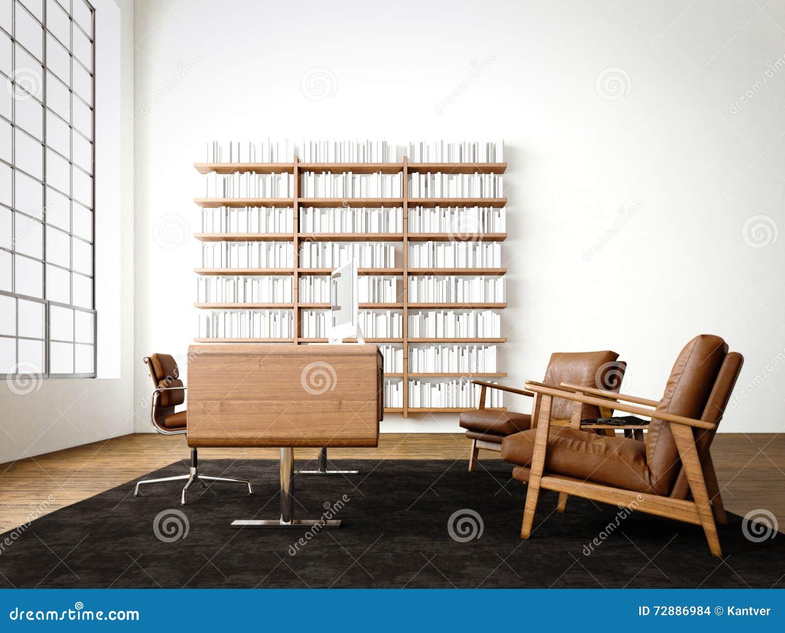 Pavimento Bianco Colore Pareti : Sottotetto interno moderno con le finestre panoramiche pavimento