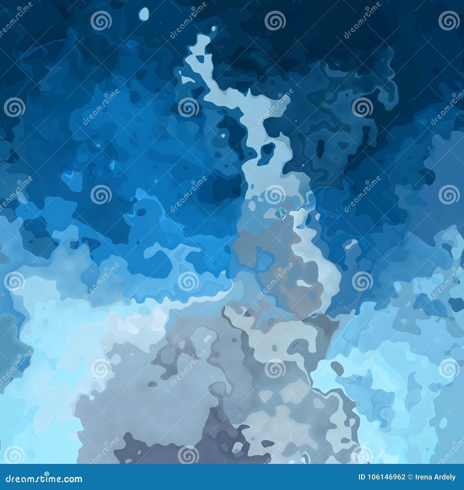 Sottragga gli azzurri macchiati con i colori grigi della nuvola - arte moderna del fondo del modello della pittura - effetto dell
