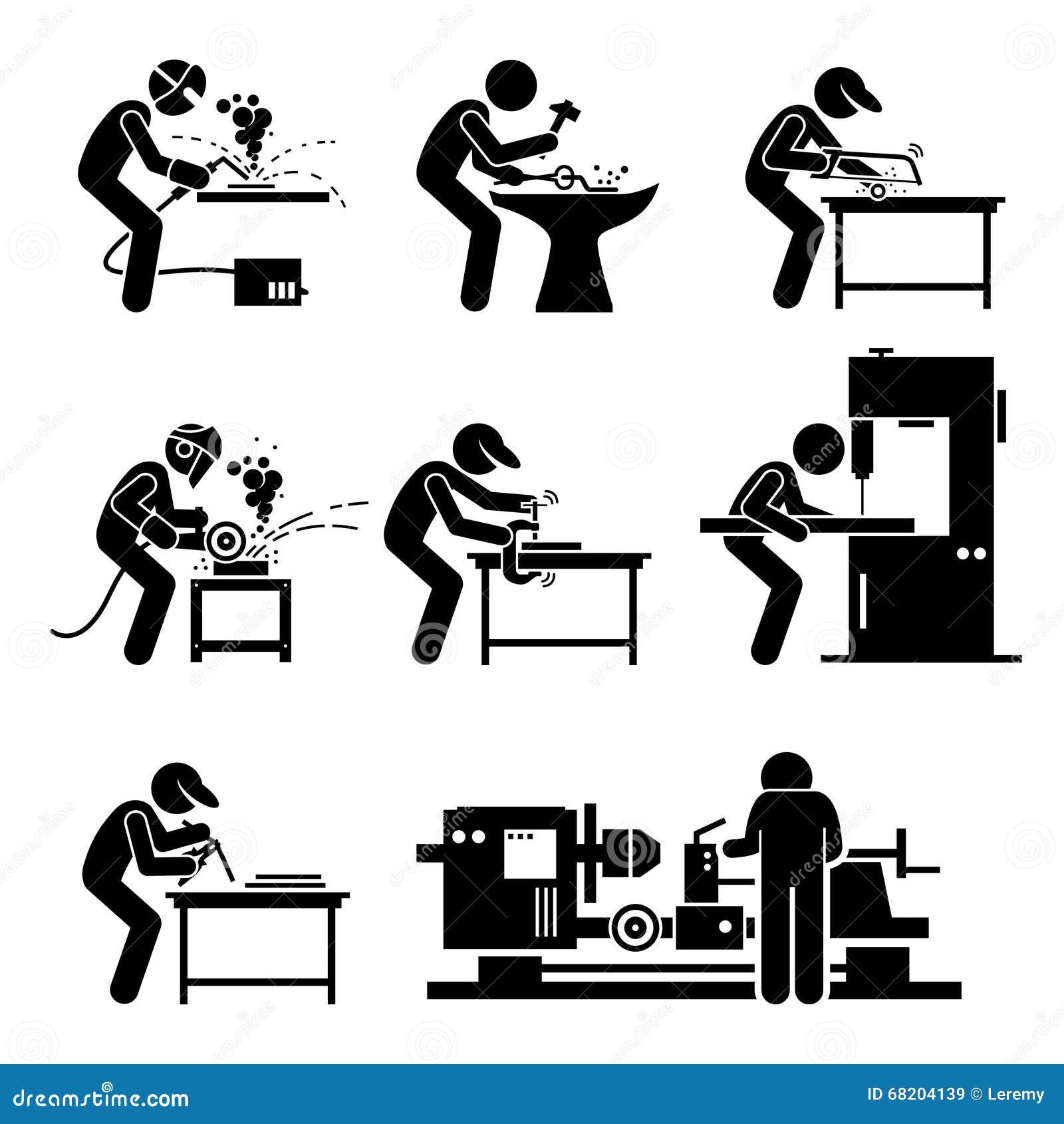 Soudeur Metalworking Steelworks Workshop Clipart ...