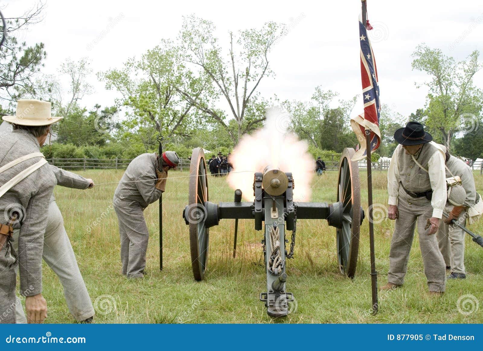 Souffle de canon de rétablissement de guerre civile