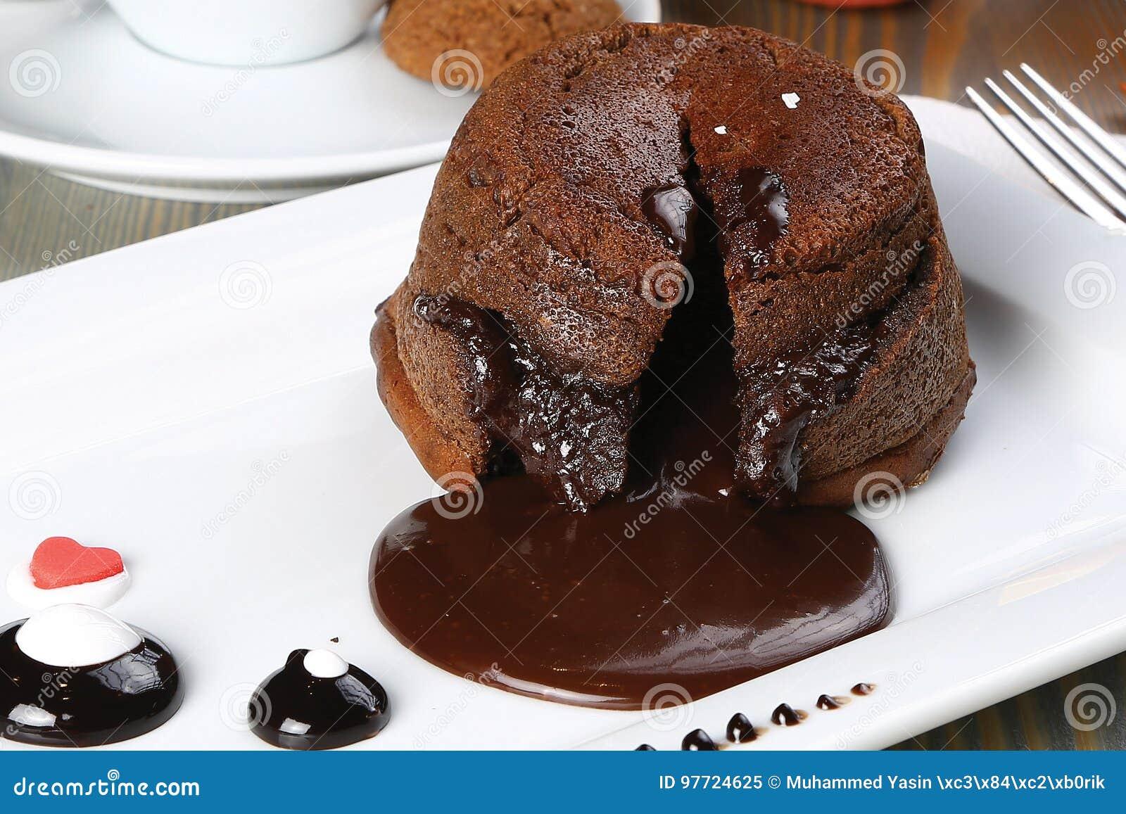 Souffle do chocolate quente