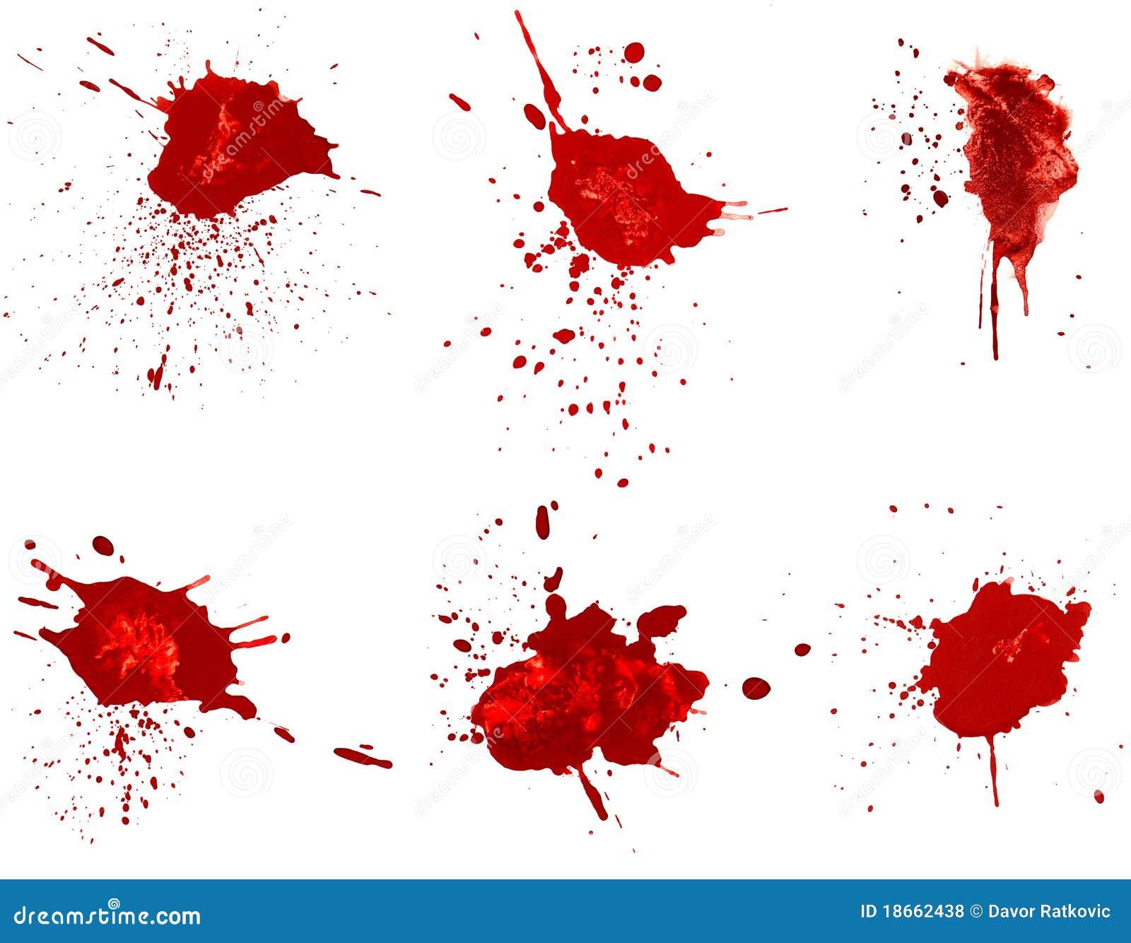 Souillures de sang