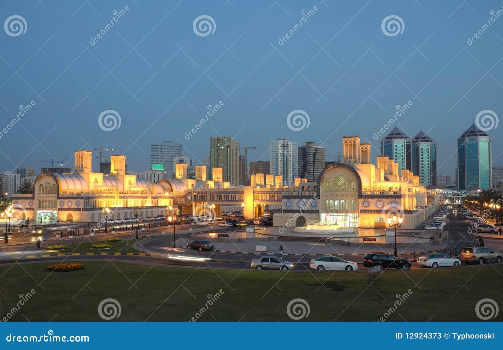 Souk central en la ciudad de Sharja