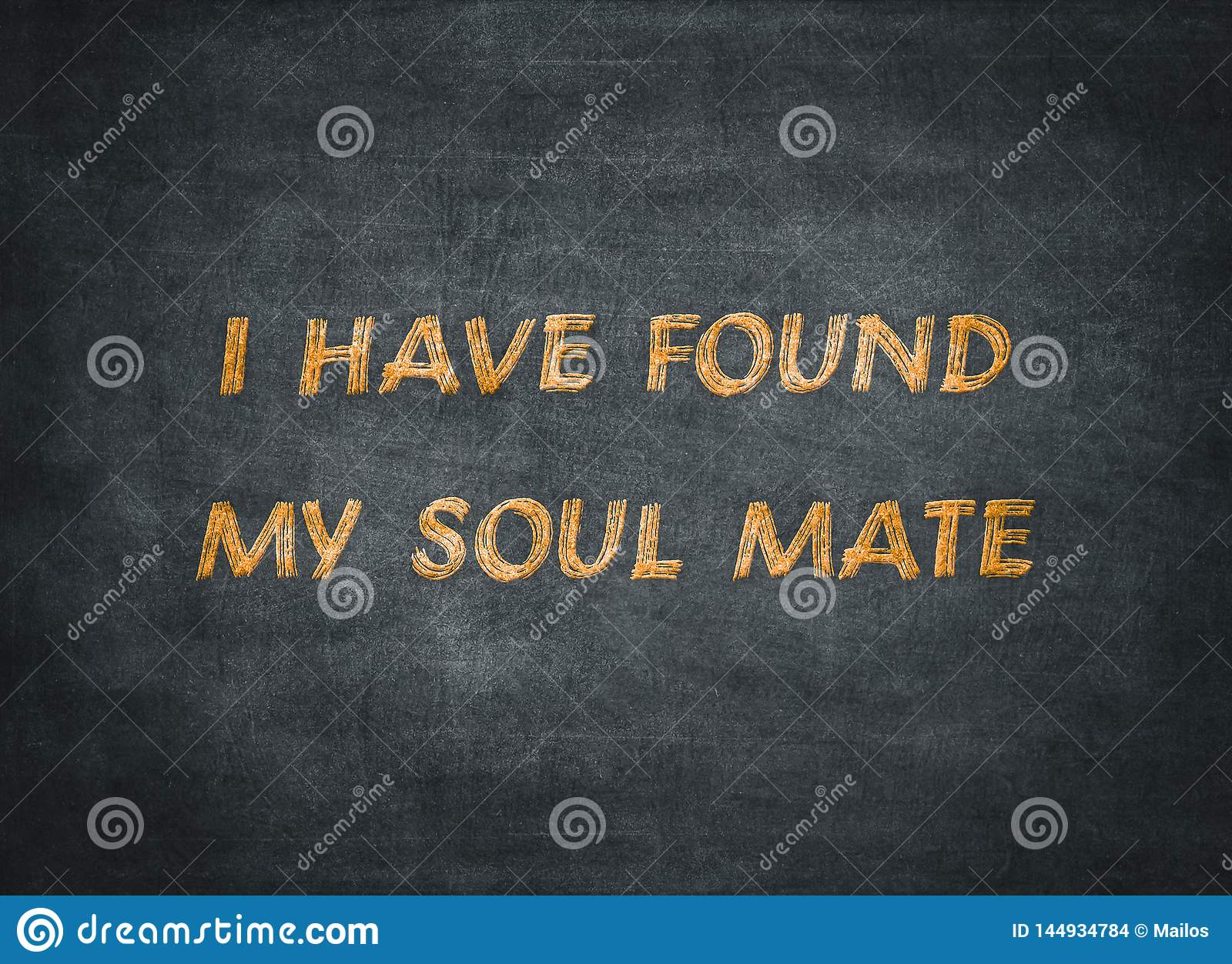 Soul mate forever friend happy typography type